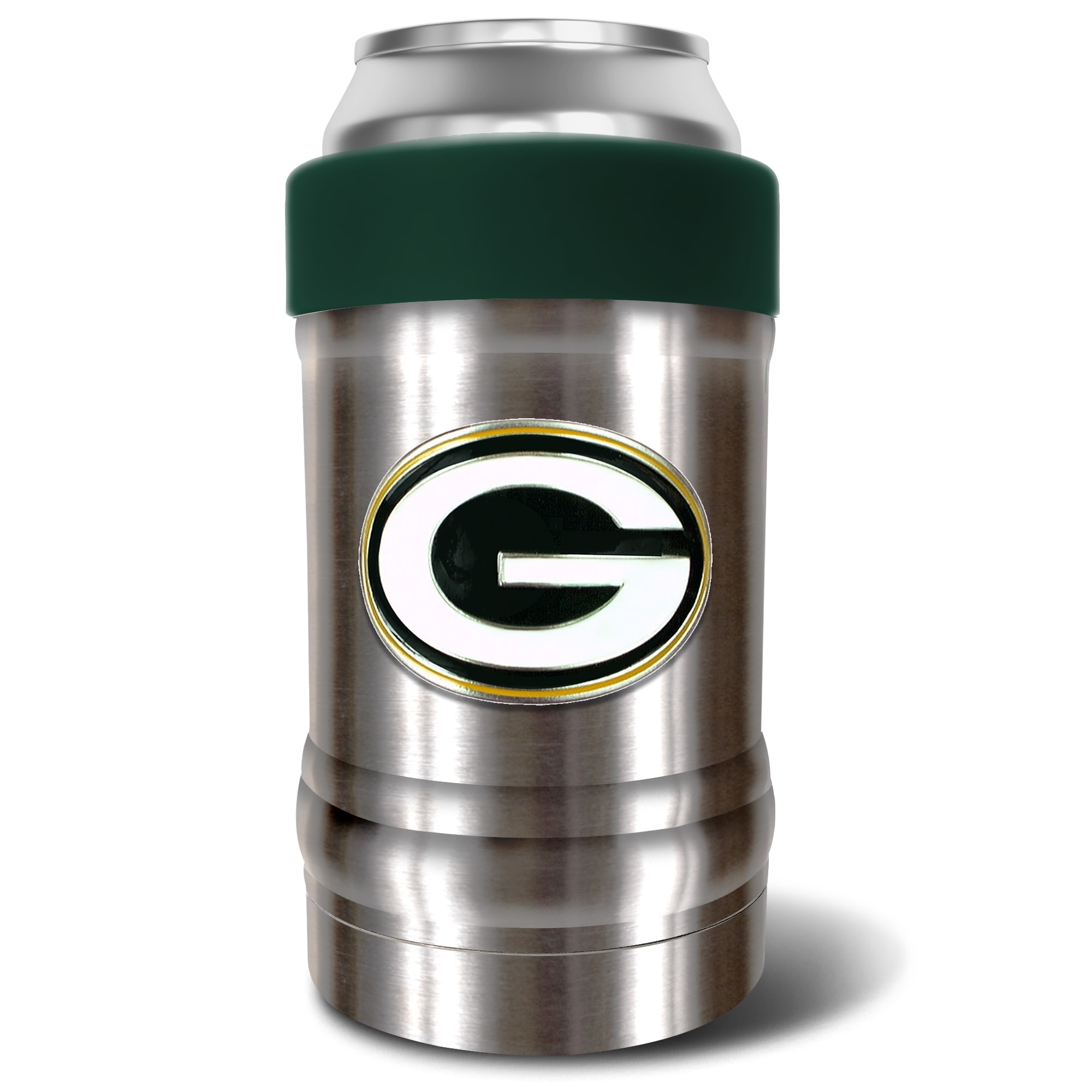 Green Bay Packers The Locker 12oz. Can Holder - Silver/Green