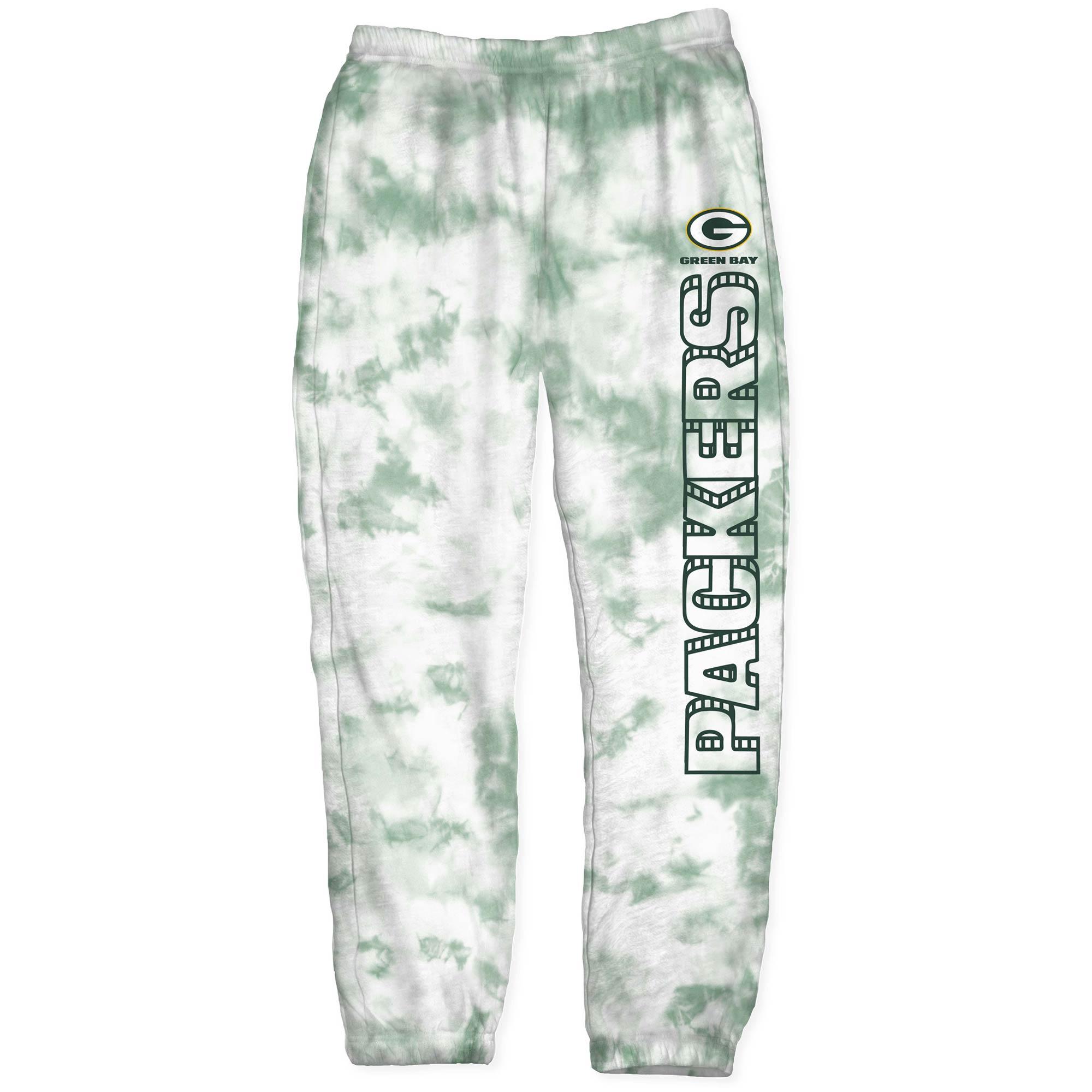 Green Bay Packers Junk Food Women's Tie-Dye Playoff Pants - Green