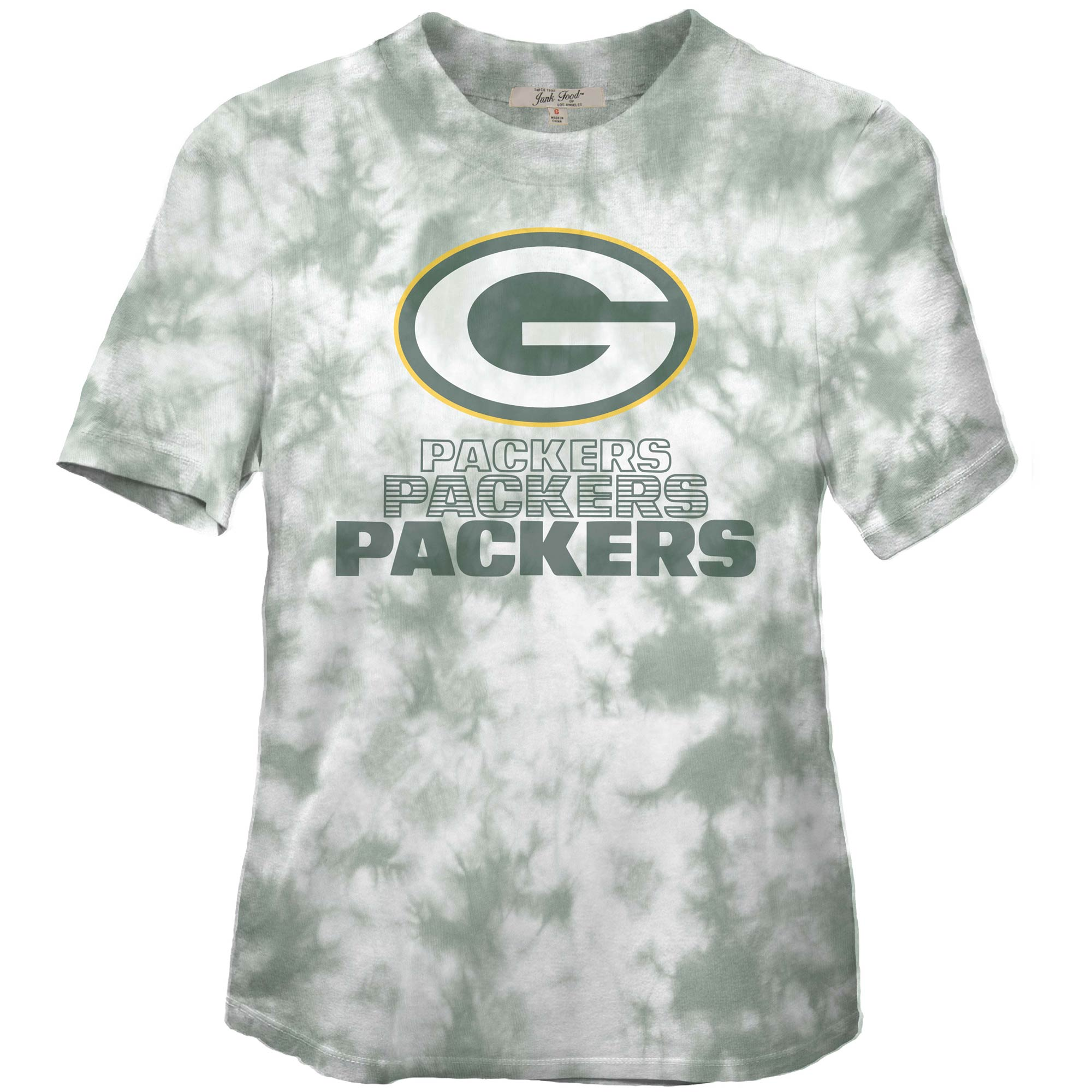 Green Bay Packers Junk Food Women's Team Spirit Tie-Dye T-Shirt - Green