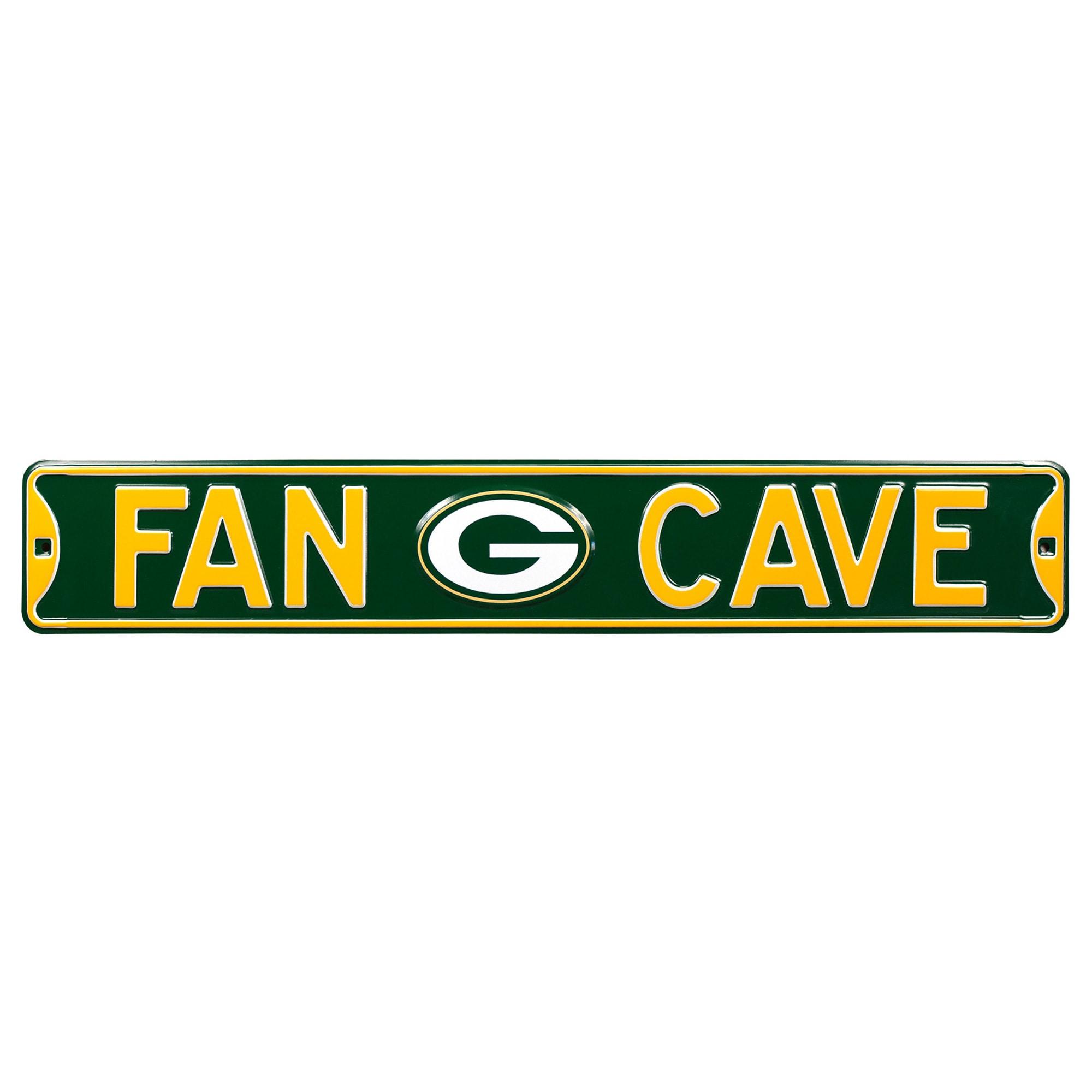 Green Bay Packers Steel Fan Cave Street Sign