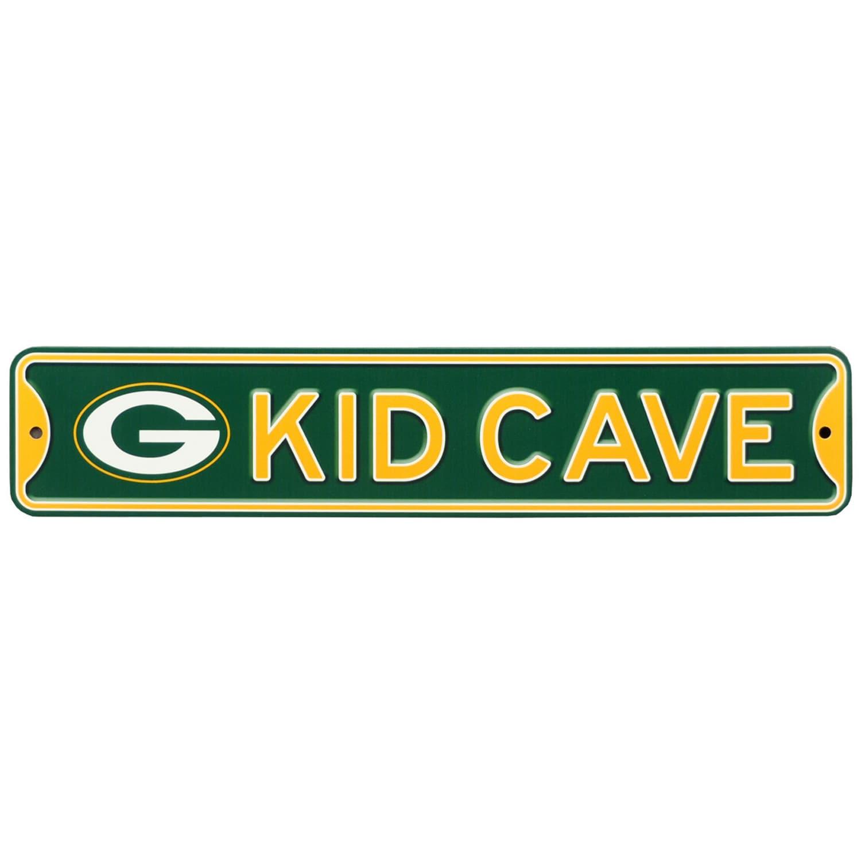 Green Bay Packers 16'' Mini Steel Kid Cave Street Sign