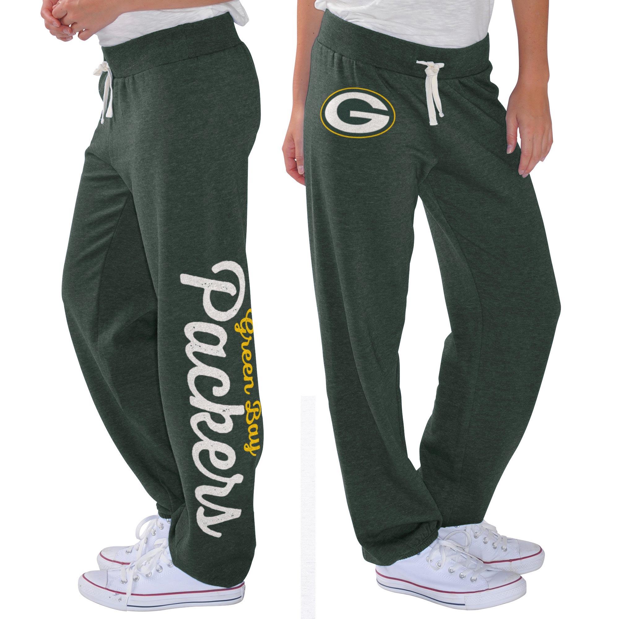 Green Bay Packers G-III 4Her by Carl Banks Women's Scrimmage Fleece Pants - Green