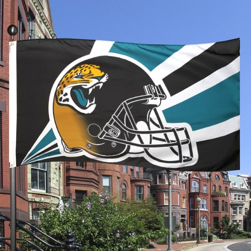 Jacksonville Jaguars 3' x 5' Helmet Two-Sided Flag