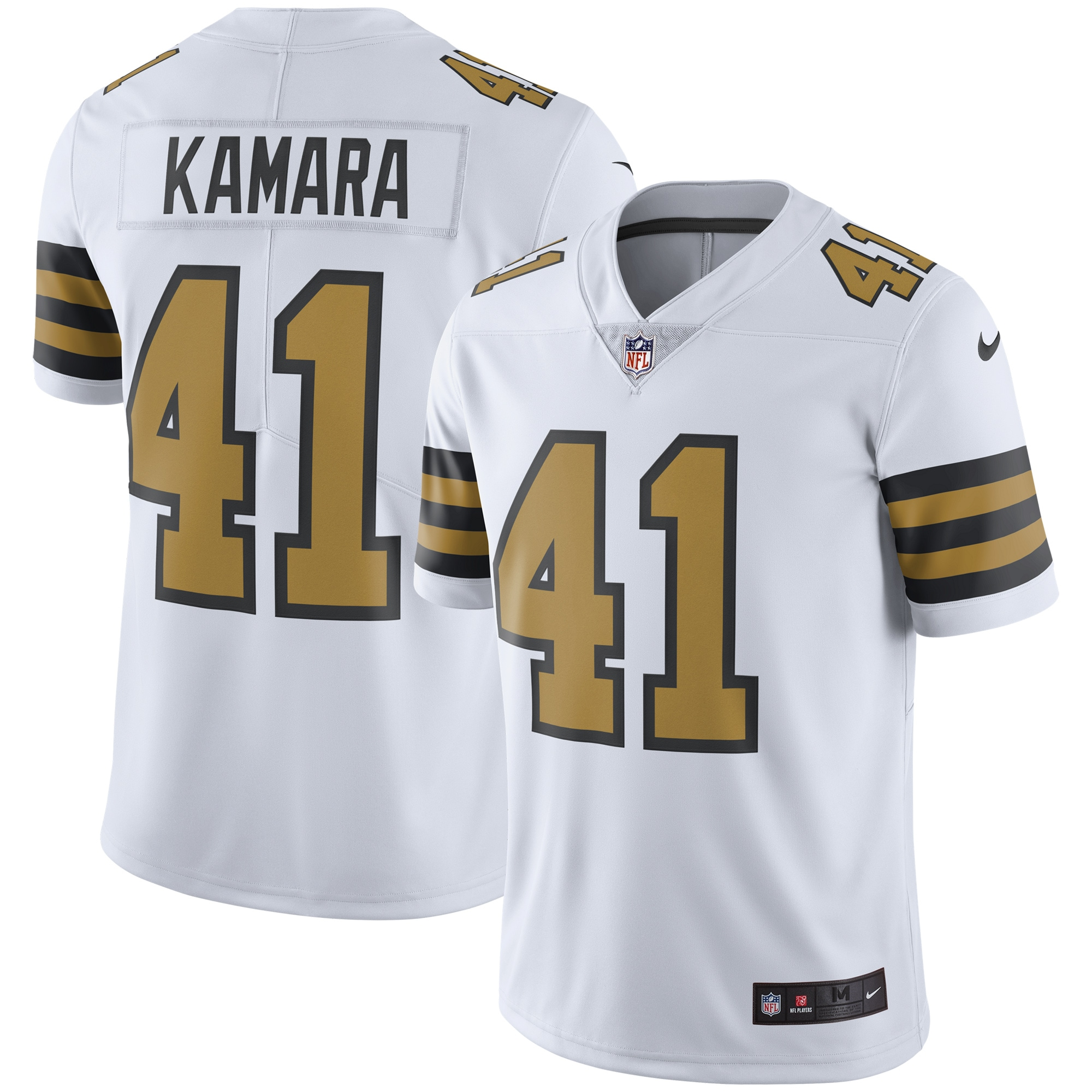 Alvin Kamara New Orleans Saints Nike Vapor Untouchable Color Rush Limited Player Jersey - White