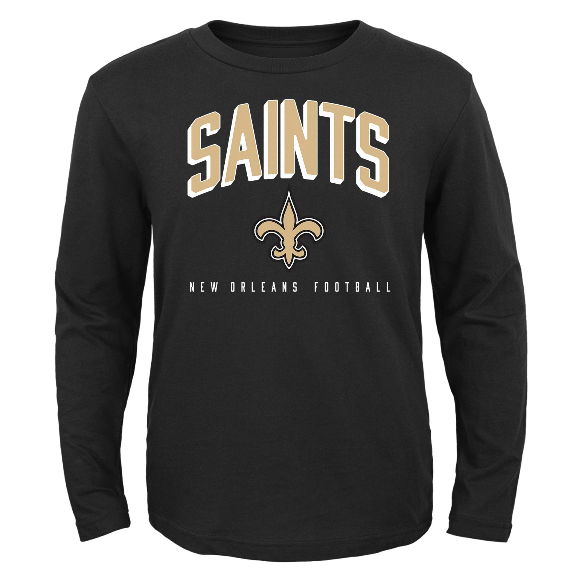 New Orleans Saints Toddler Arch Standard Long Sleeve T-Shirt - Black