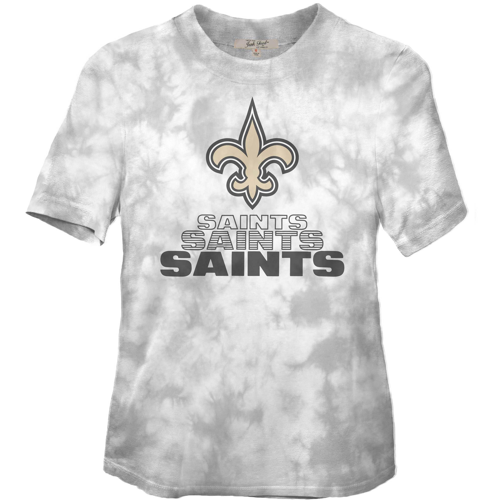 New Orleans Saints Junk Food Women's Team Spirit Tie-Dye T-Shirt - Black
