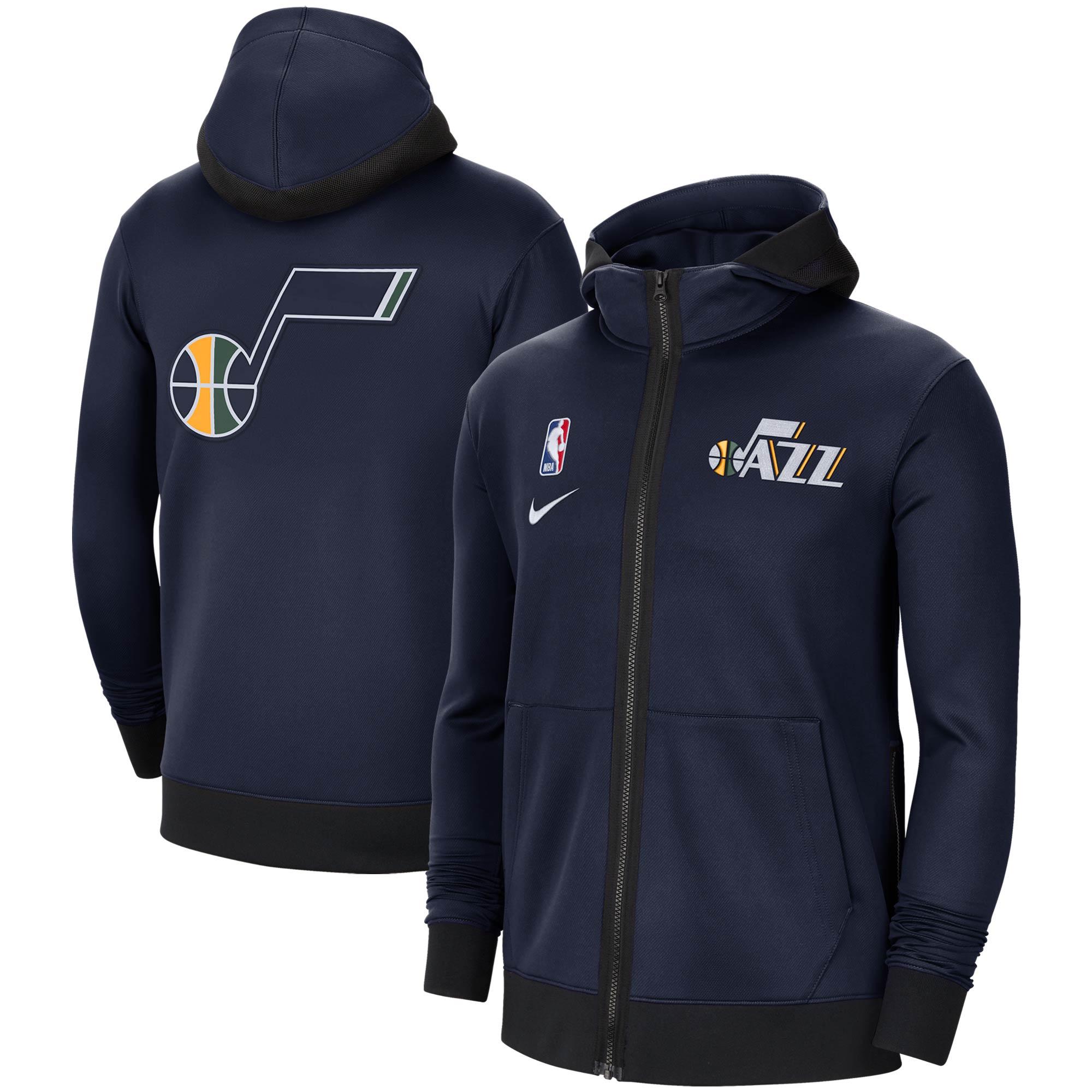Utah Jazz Nike Authentic Showtime Performance Full-Zip Hoodie Jacket - Navy