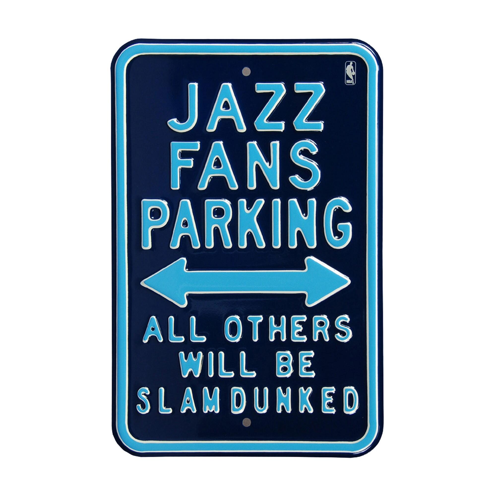Utah Jazz Steel Parking Street Sign