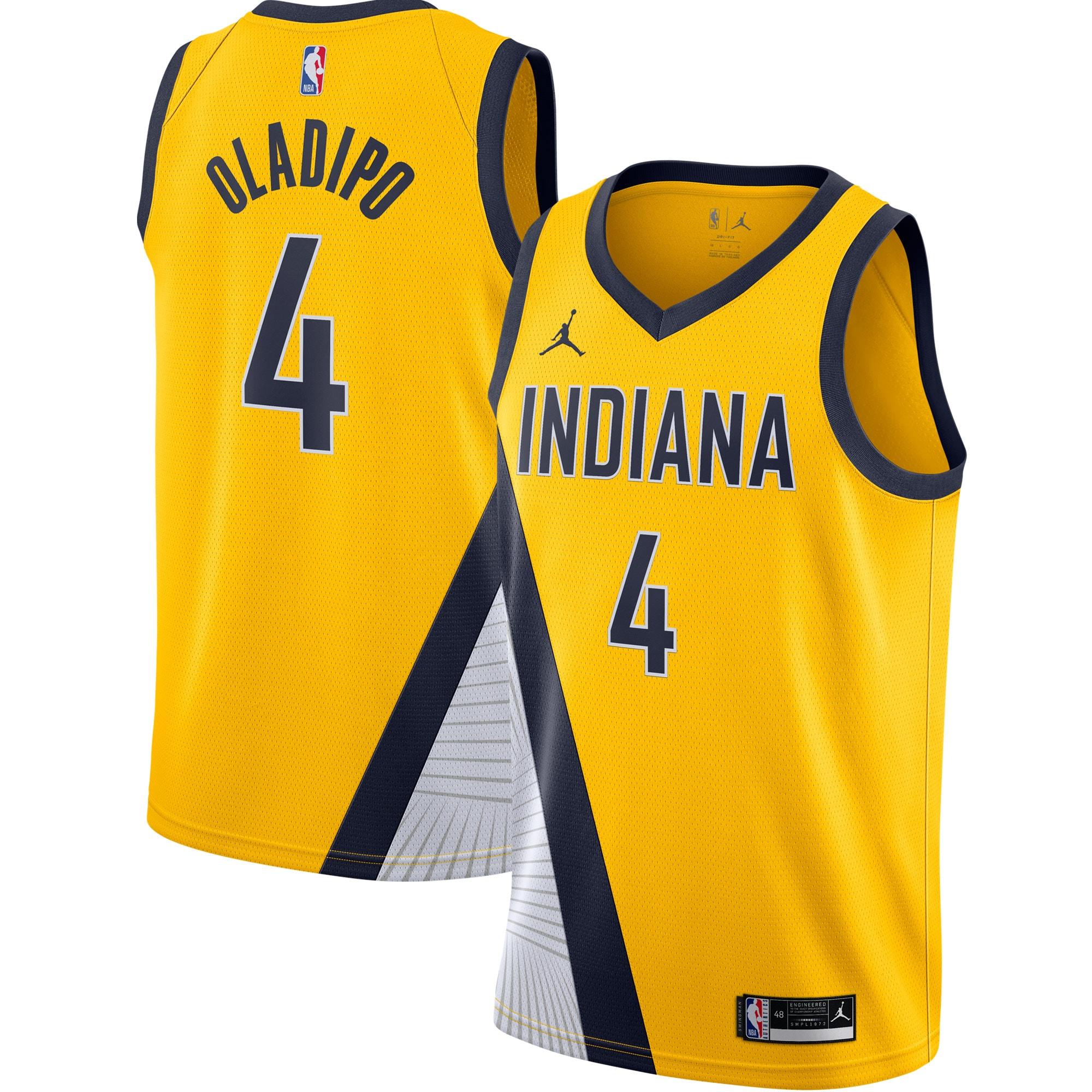 Victor Oladipo Indiana Pacers Jordan Brand 2020/21 Swingman Jersey - Statement Edition - Gold