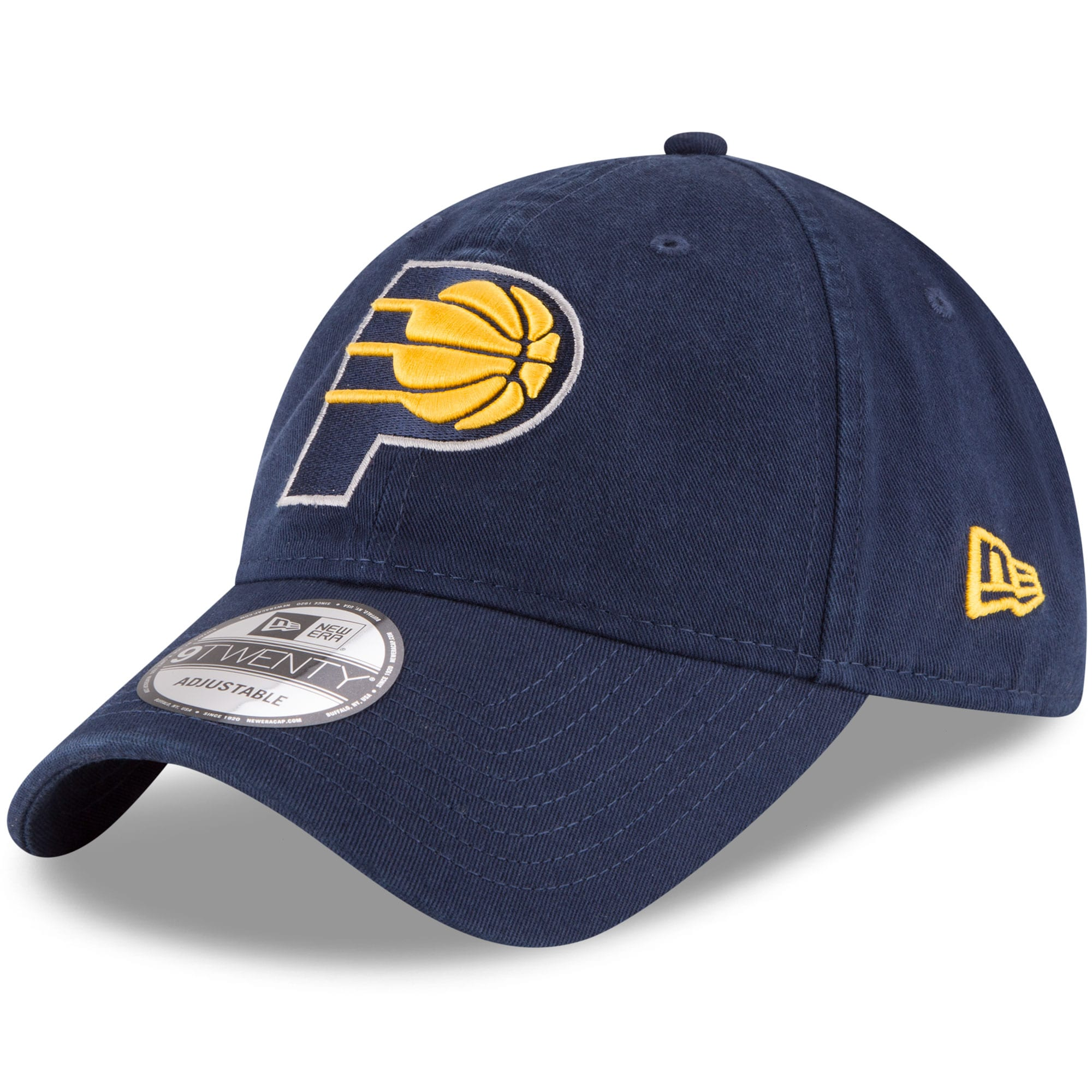 Indiana Pacers New Era Official Team Color 9TWENTY Adjustable Hat - Navy