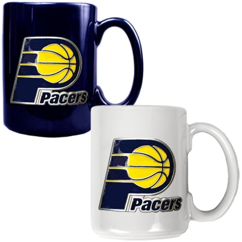 Indiana Pacers 15oz. Coffee Mug Set - Navy/White