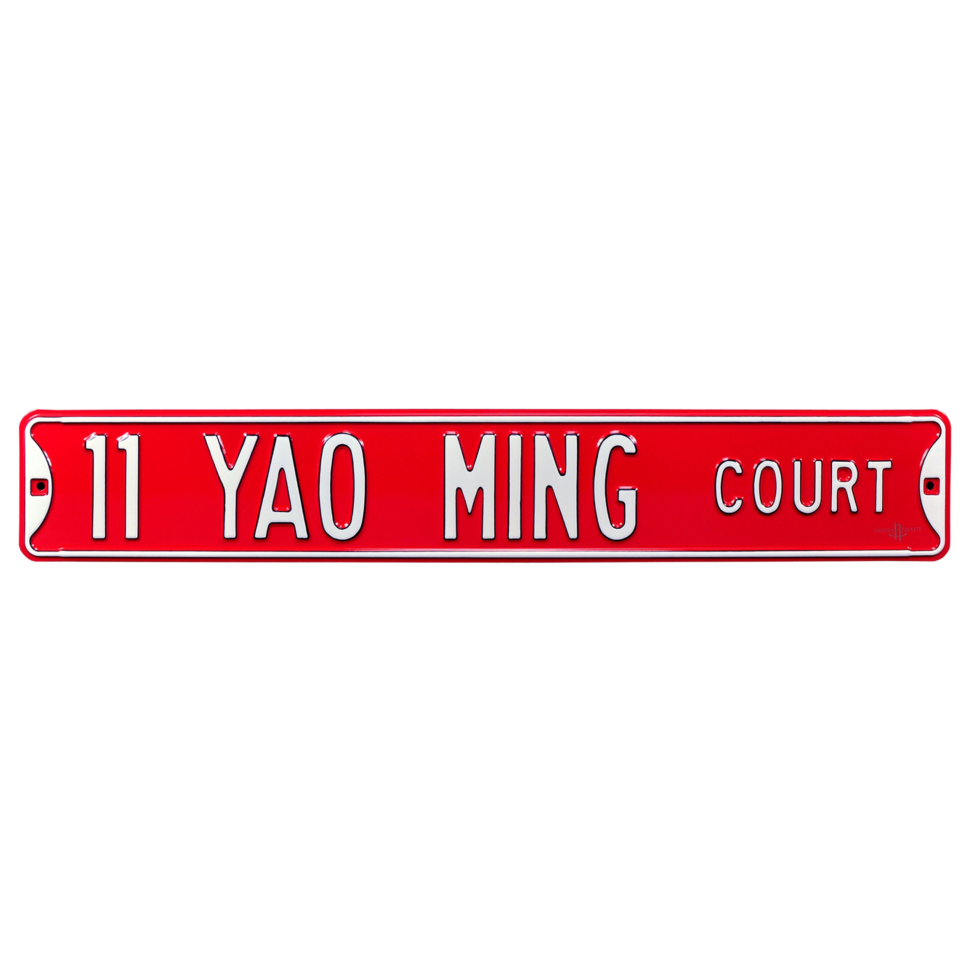 Yao Ming Houston Rockets Player Steel Street Sign