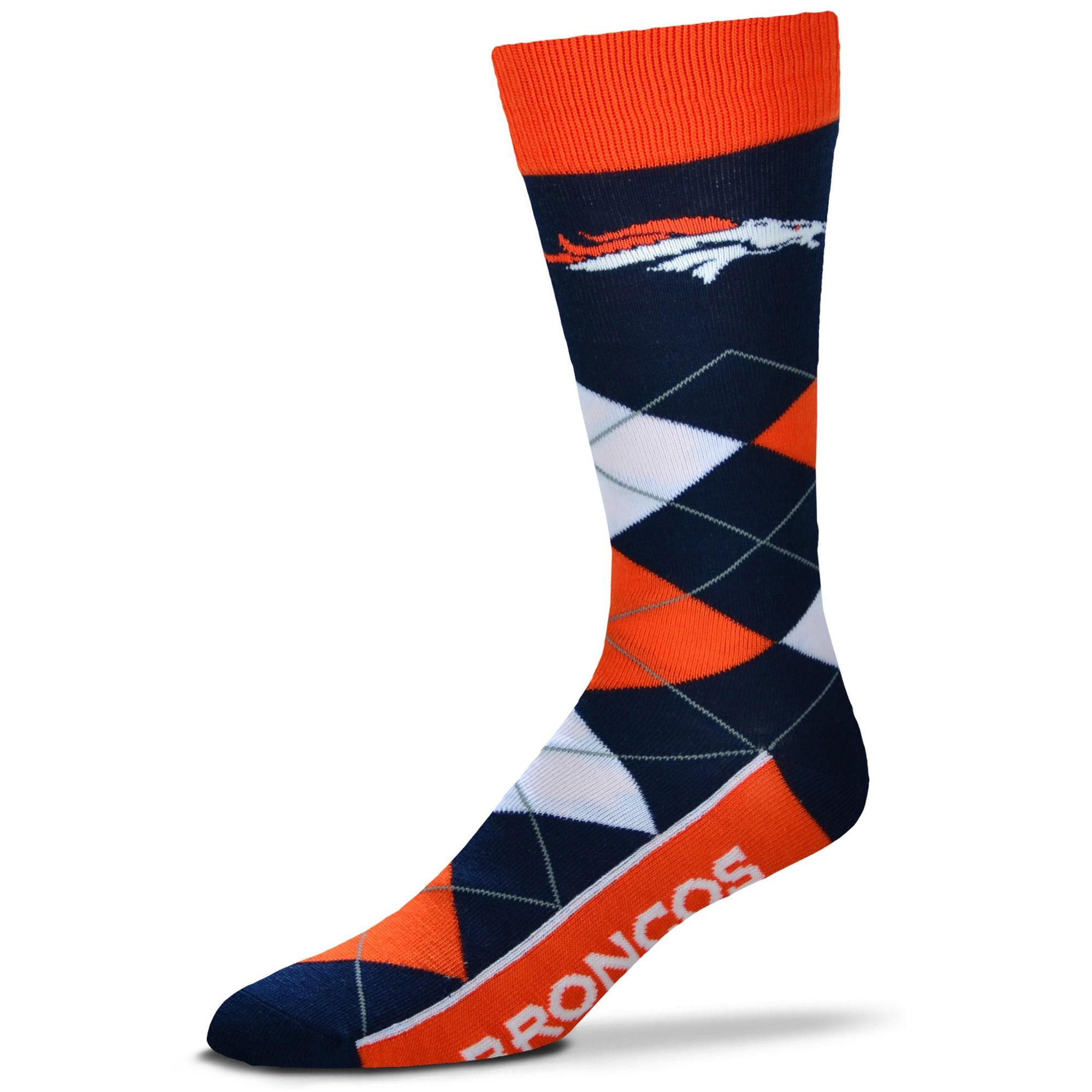 Denver Broncos For Bare Feet Argyle Crew Socks