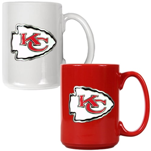 Kansas City Chiefs 15oz. Coffee Mug Set