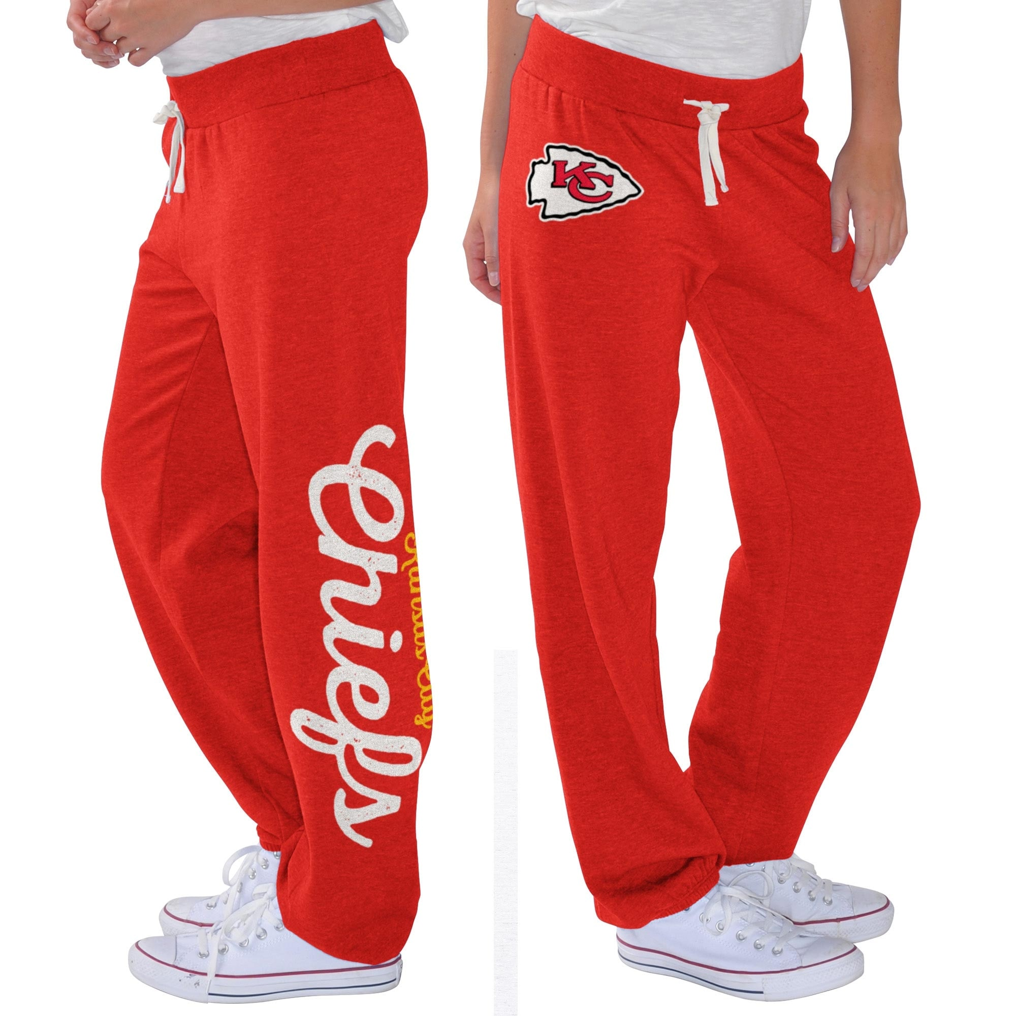 Kansas City Chiefs G-III 4Her by Carl Banks Women's Scrimmage Fleece Pants - Red