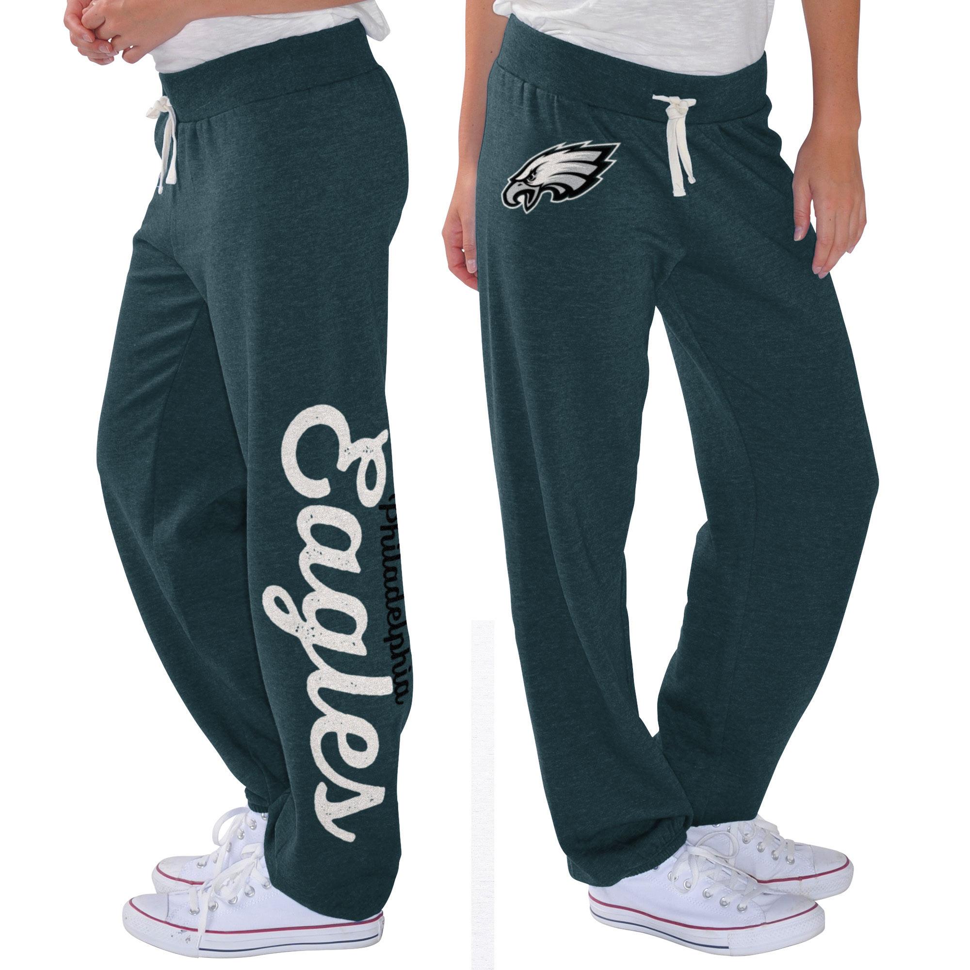 Philadelphia Eagles G-III 4Her by Carl Banks Women's Scrimmage Fleece Pants - Midnight Green