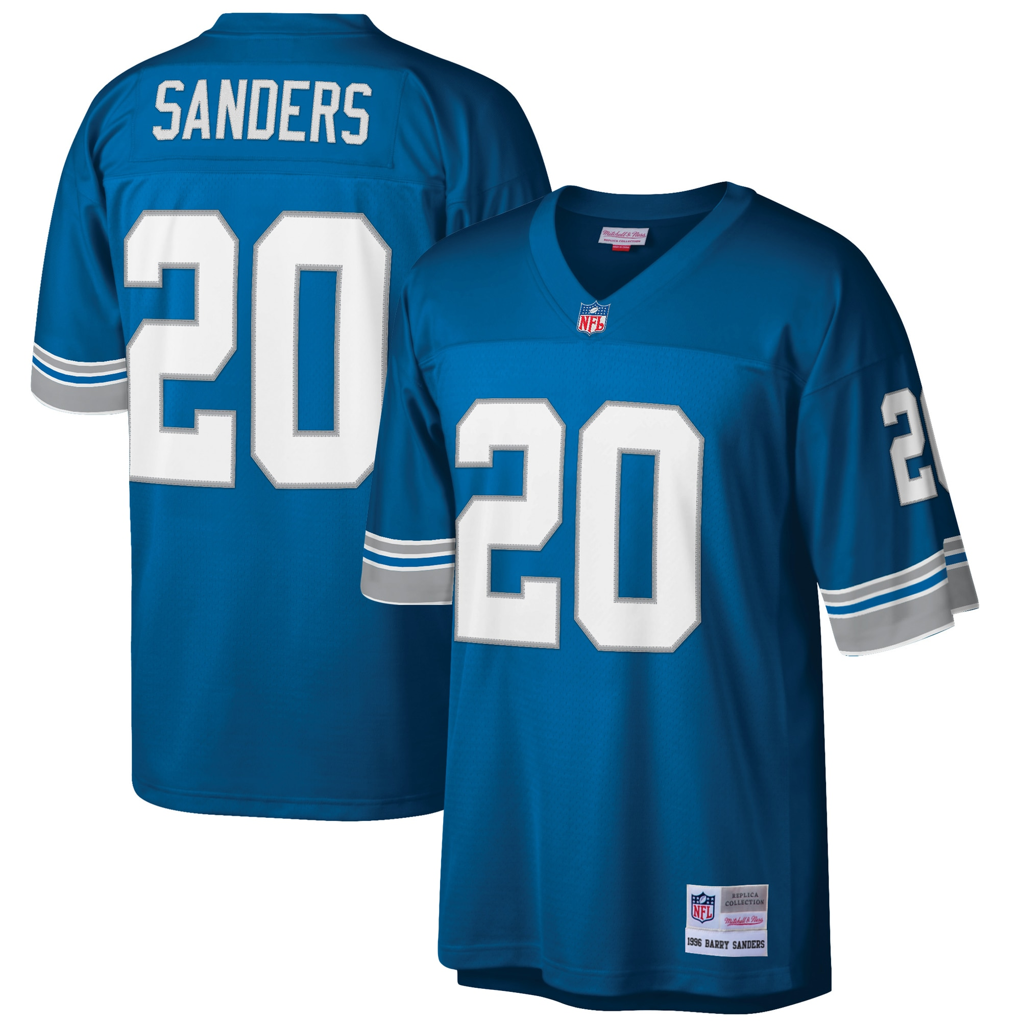 Barry Sanders Detroit Lions Mitchell & Ness Retired Player Legacy Replica Jersey - Blue