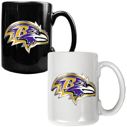 Baltimore Ravens 15oz. Coffee Mug Set
