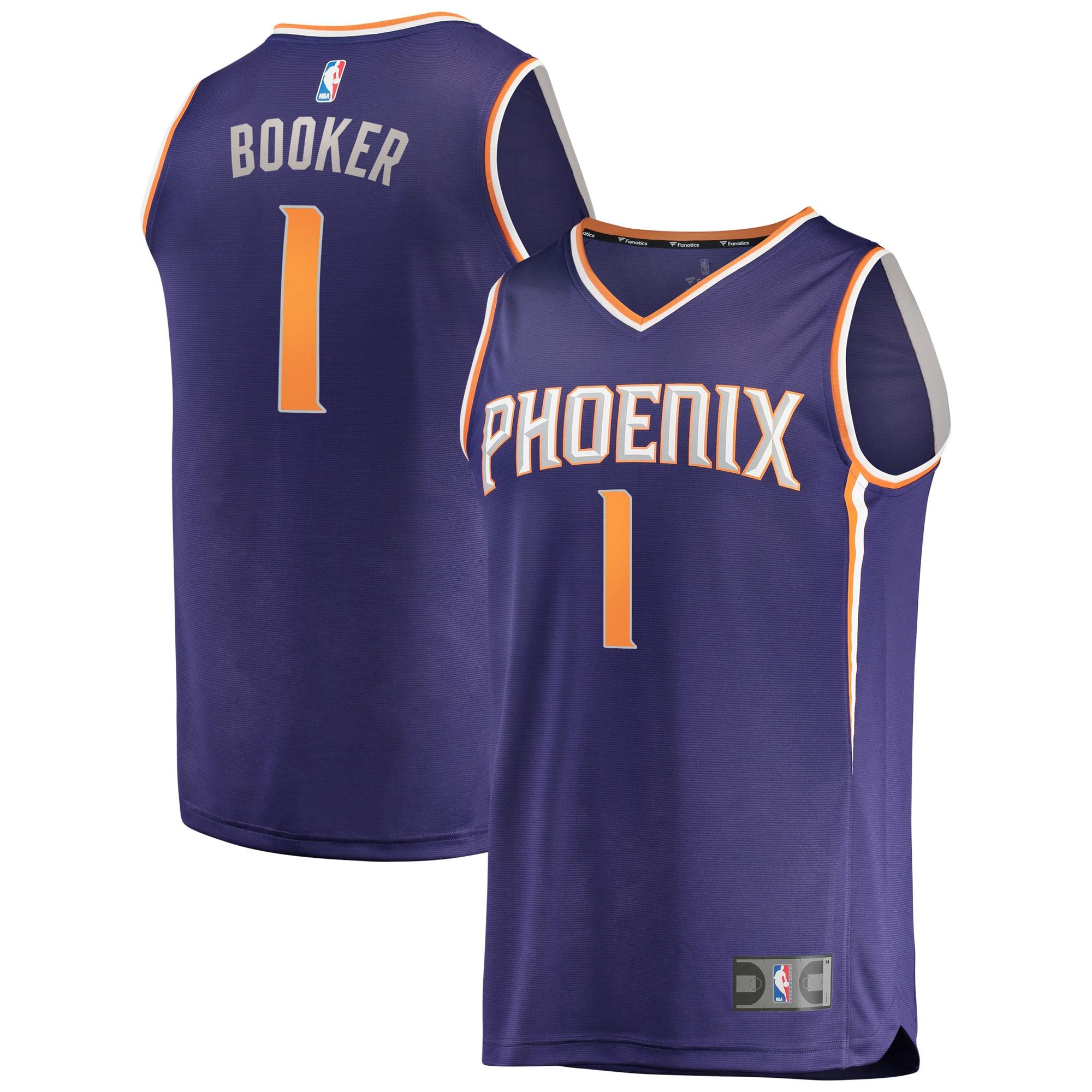Devin Booker Phoenix Suns Fanatics Branded Fast Break Replica Jersey Purple - Icon Edition