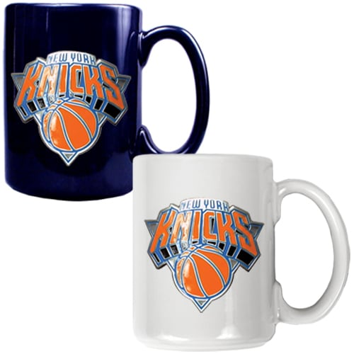 New York Knicks 15oz. Coffee Mug Set - Blue/White