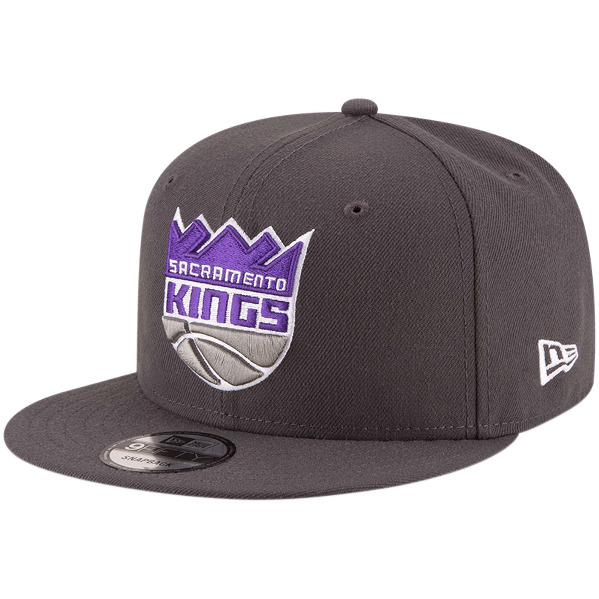 Sacramento Kings New Era Official Team Color 9FIFTY Adjustable Snapback Hat - Gray
