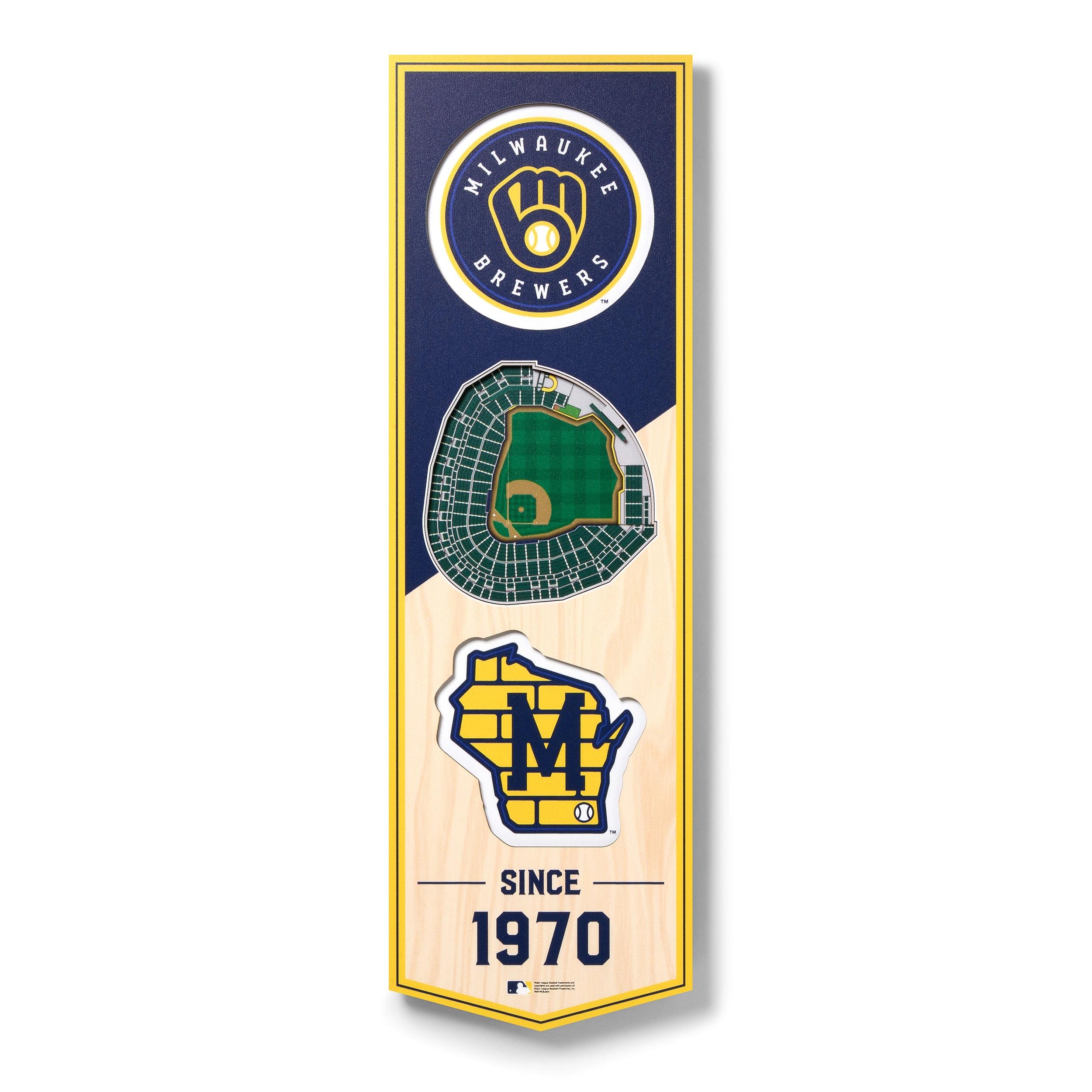 Milwaukee Brewers 6'' x 19'' 3D StadiumView Banner
