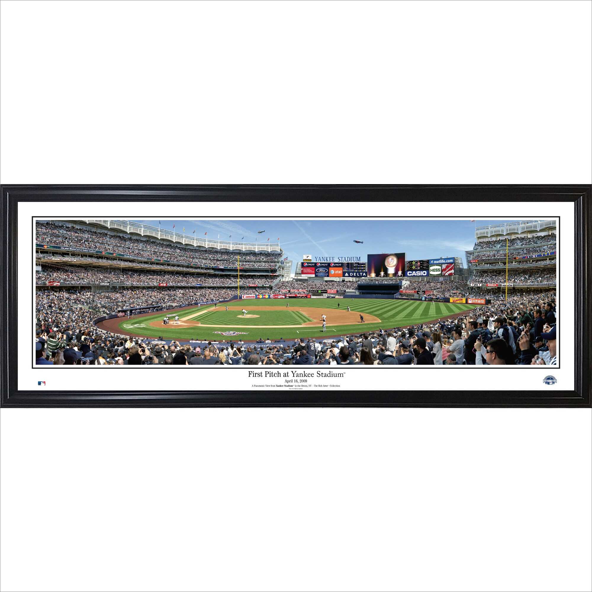 New York Yankees 39'' x 13.5'' First Pitch at Yankee Stadium Standard Framed Panorama