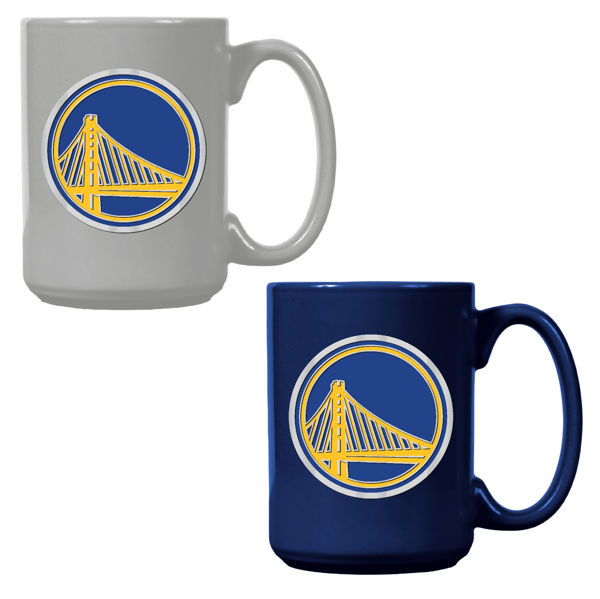 Golden State Warriors 15oz. Coffee Mug Set - Royal/White