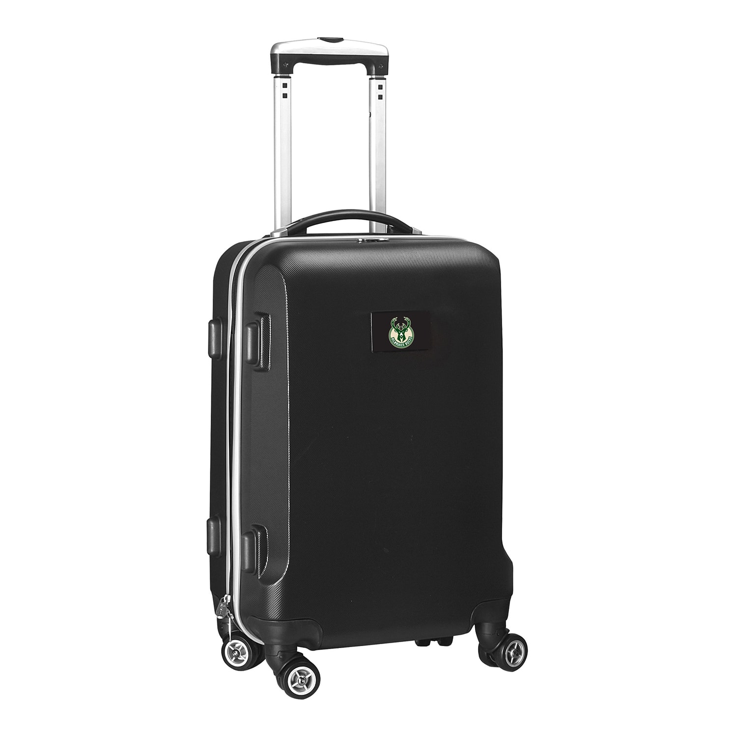 "Milwaukee Bucks 21"" 8-Wheel Hardcase Spinner Carry-On - Black"