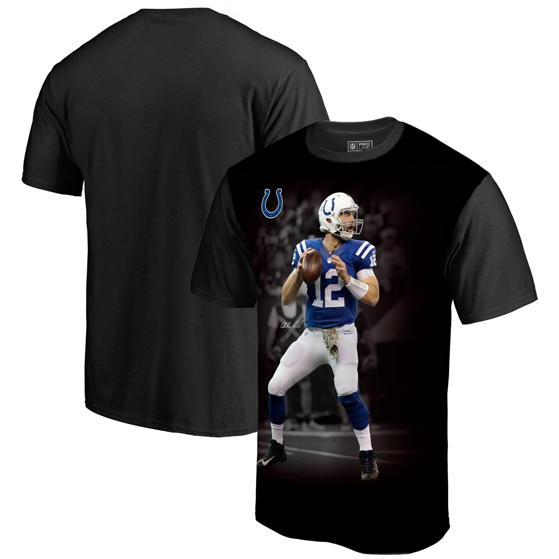 Andrew Luck Indianapolis Colts NFL Pro Line by Fanatics Branded NFL Player Sublimated Graphic T-Shirt - Black