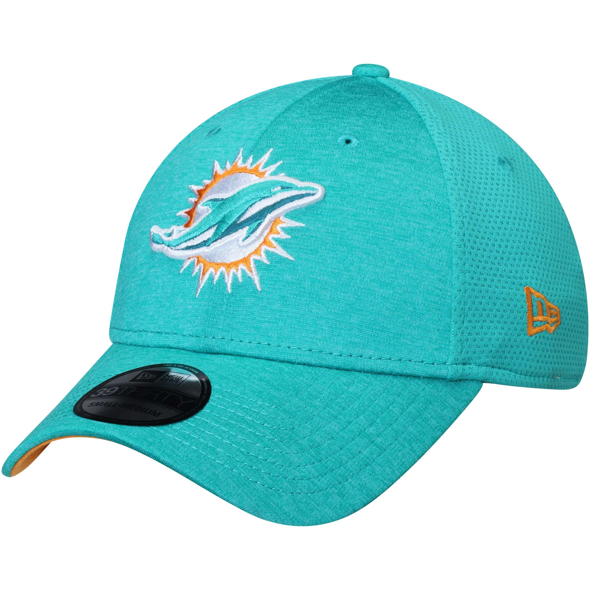 Miami Dolphins New Era Shadowed Team 39THIRTY Flex Hat - Aqua