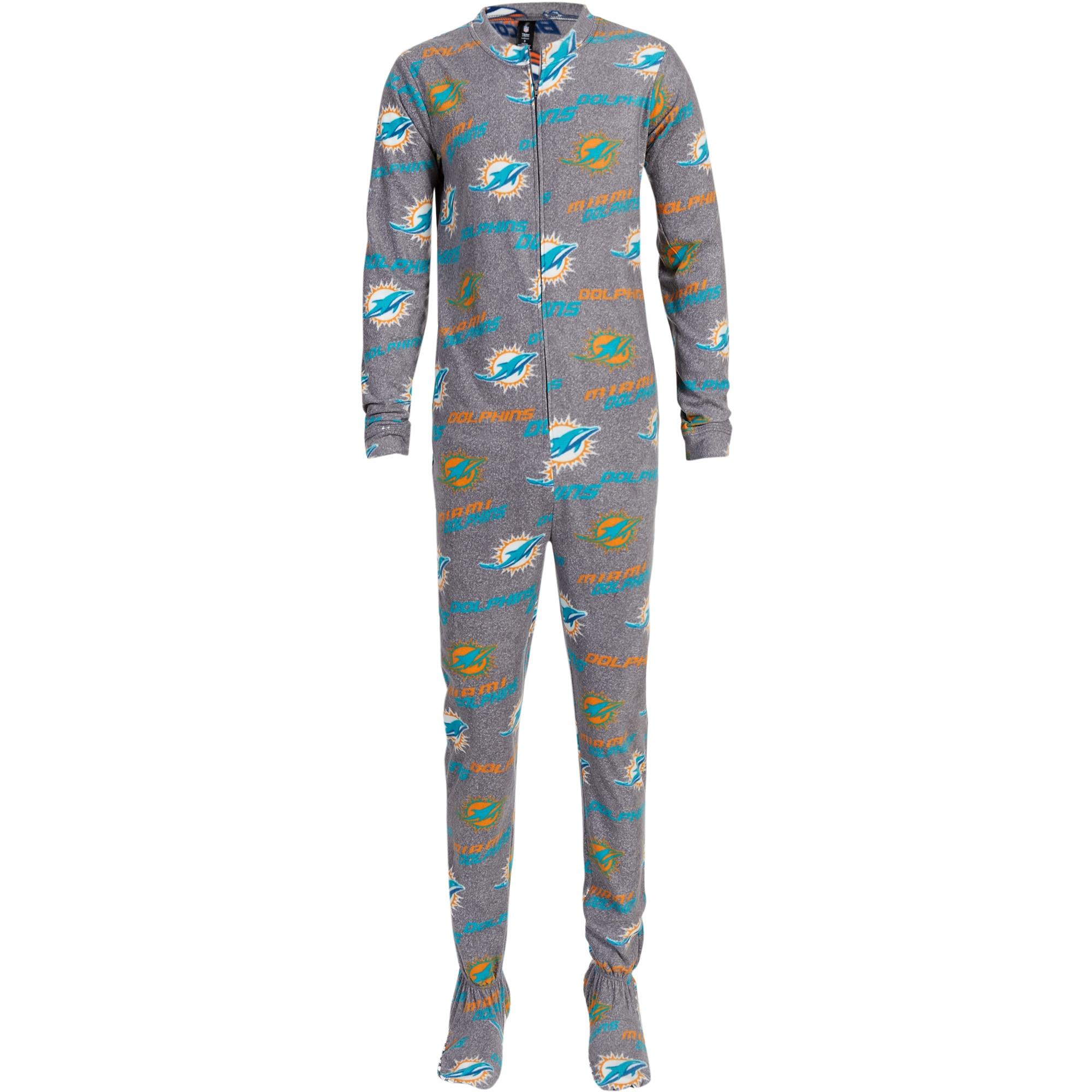 Miami Dolphins Concepts Sport Women's Achieve Fleece Union Suit - Gray