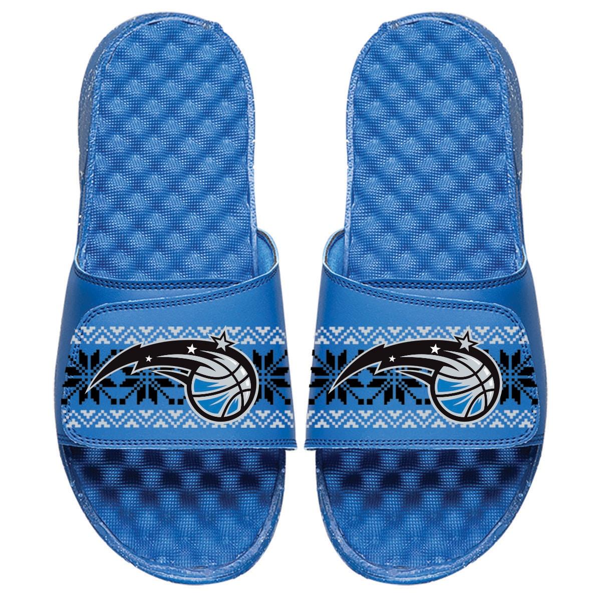 Orlando Magic ISlide Youth Ugly Sweater Slide Sandals - Royal