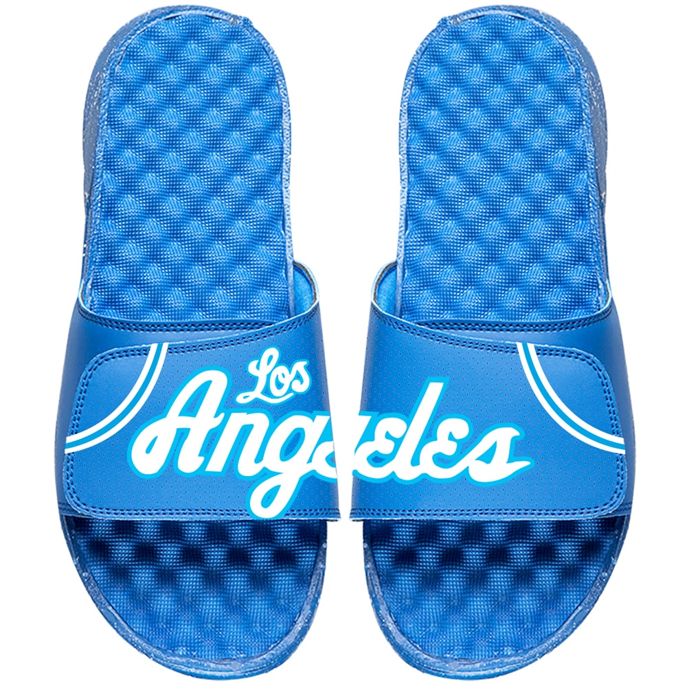 Los Angeles Lakers ISlide NBA Hardwood Classics Jersey Slide Sandals - Royal