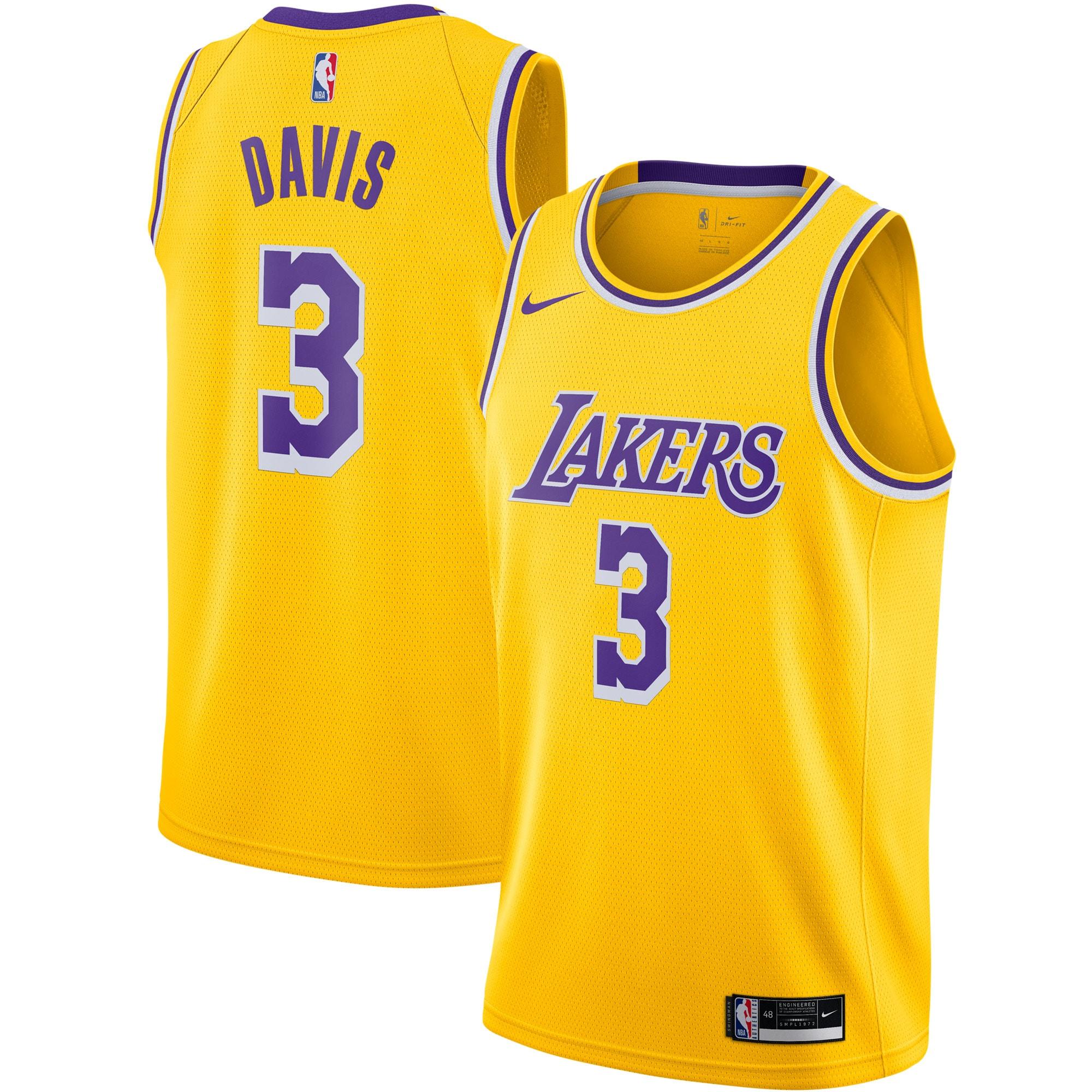 Anthony Davis Los Angeles Lakers Nike 2020/21 Swingman Jersey Gold - Icon Edition
