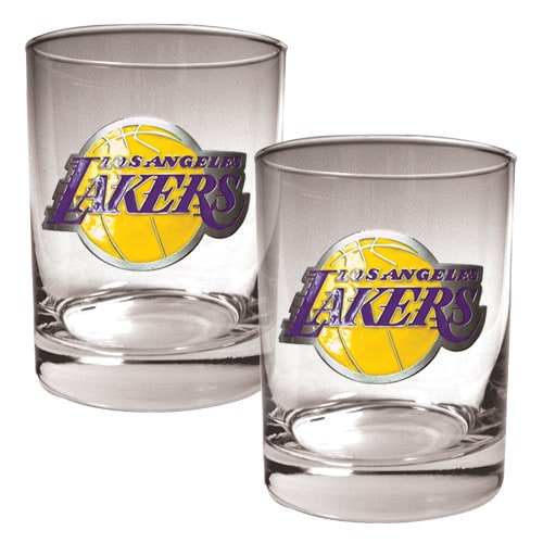 Los Angeles Lakers 14oz. Rocks Glass Set