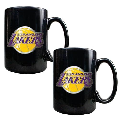 Los Angeles Lakers 15oz. Coffee Mug Set - Black