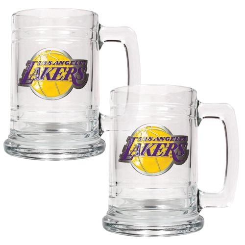 Los Angeles Lakers 2-Piece 15oz. Tankard Set