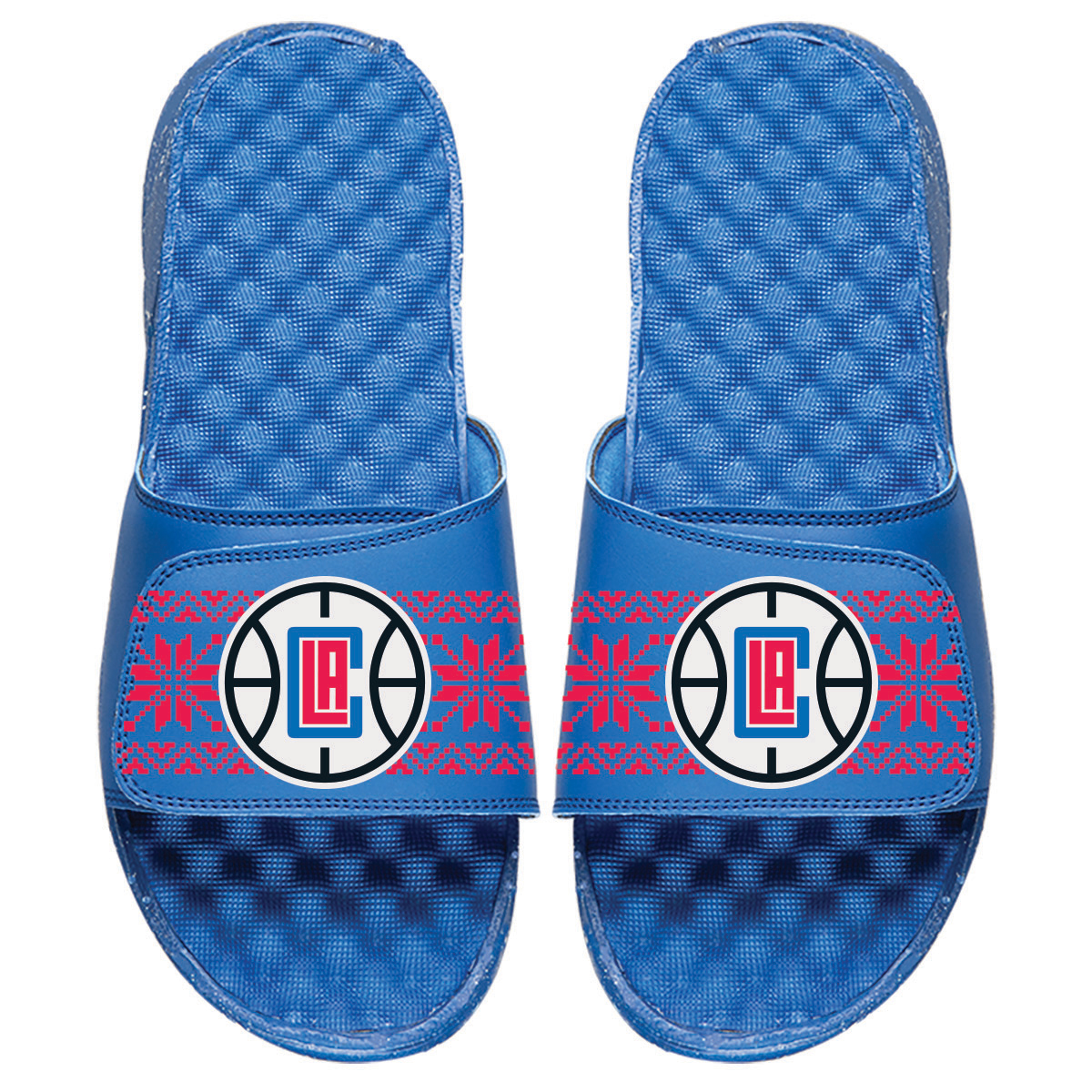 LA Clippers ISlide Ugly Sweater Slide Sandals - Royal