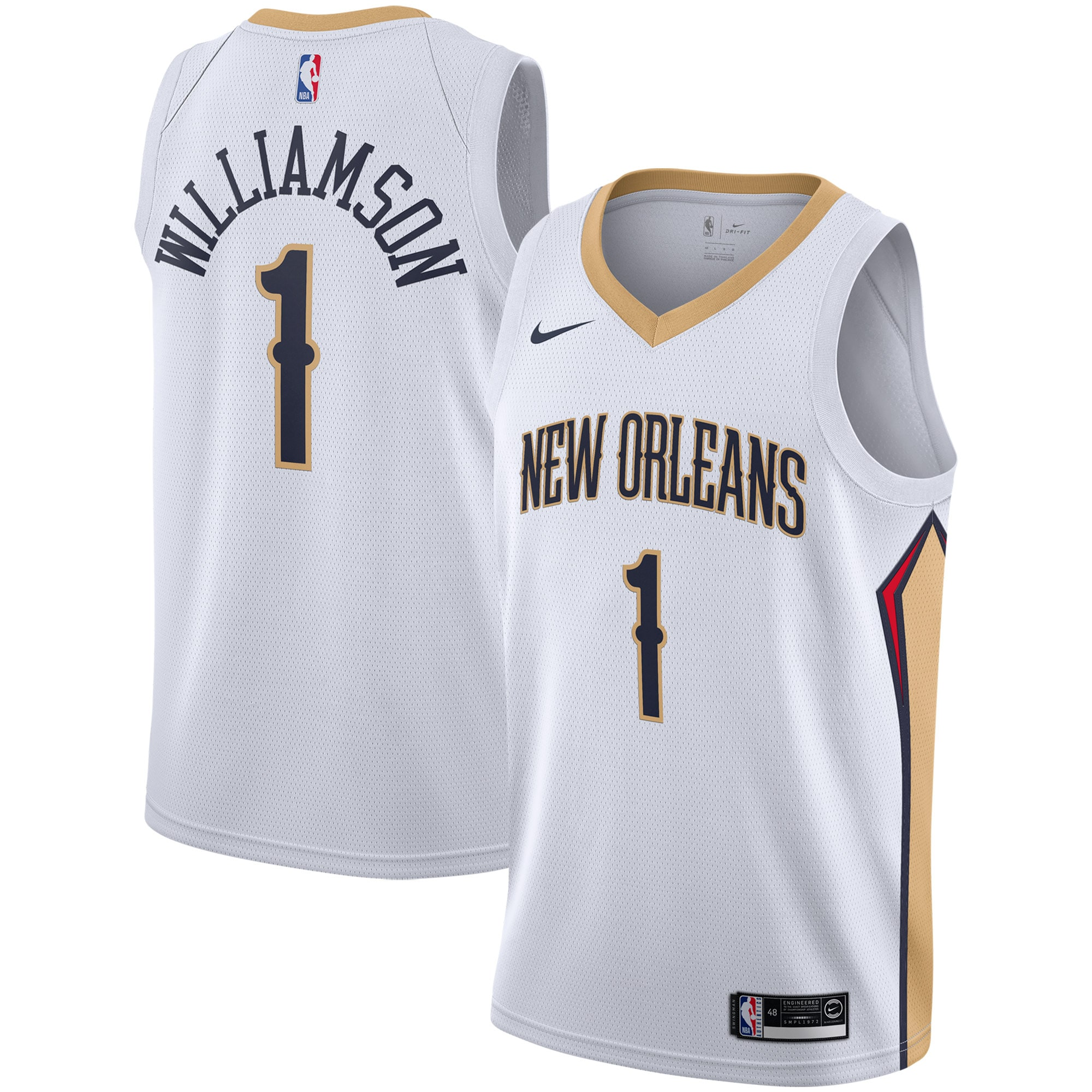 Zion Williamson New Orleans Pelicans Nike 2019/2020 Swingman Jersey - Association Edition - White