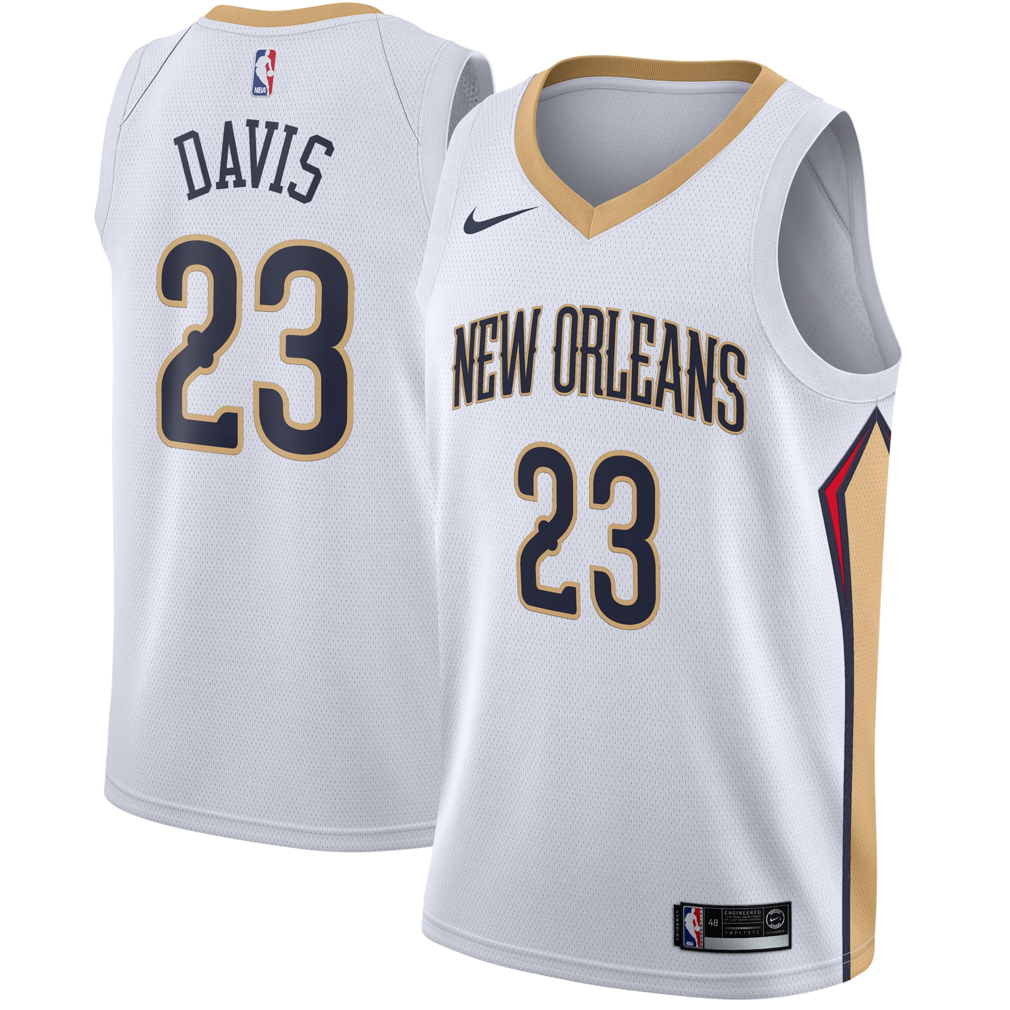 Anthony Davis New Orleans Pelicans Nike Swingman Jersey White - Association Edition