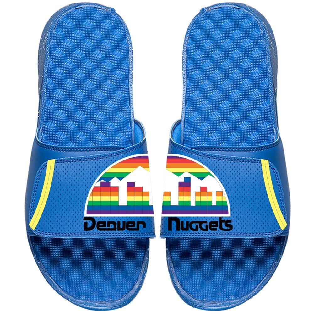 Denver Nuggets ISlide NBA Hardwood Classics Jersey Slide Sandals - Royal