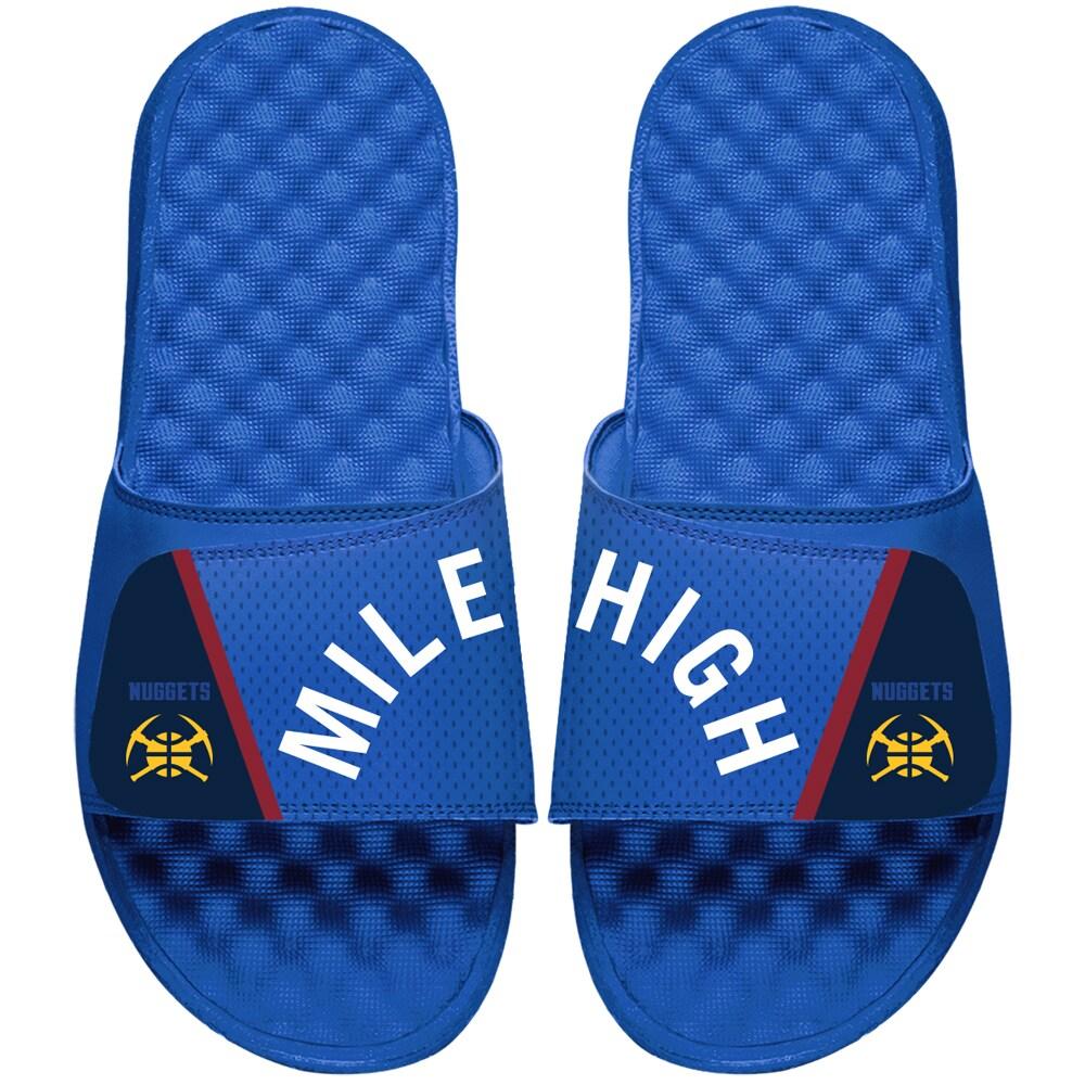 Denver Nuggets ISlide Statement Jersey Slide Sandals - Blue