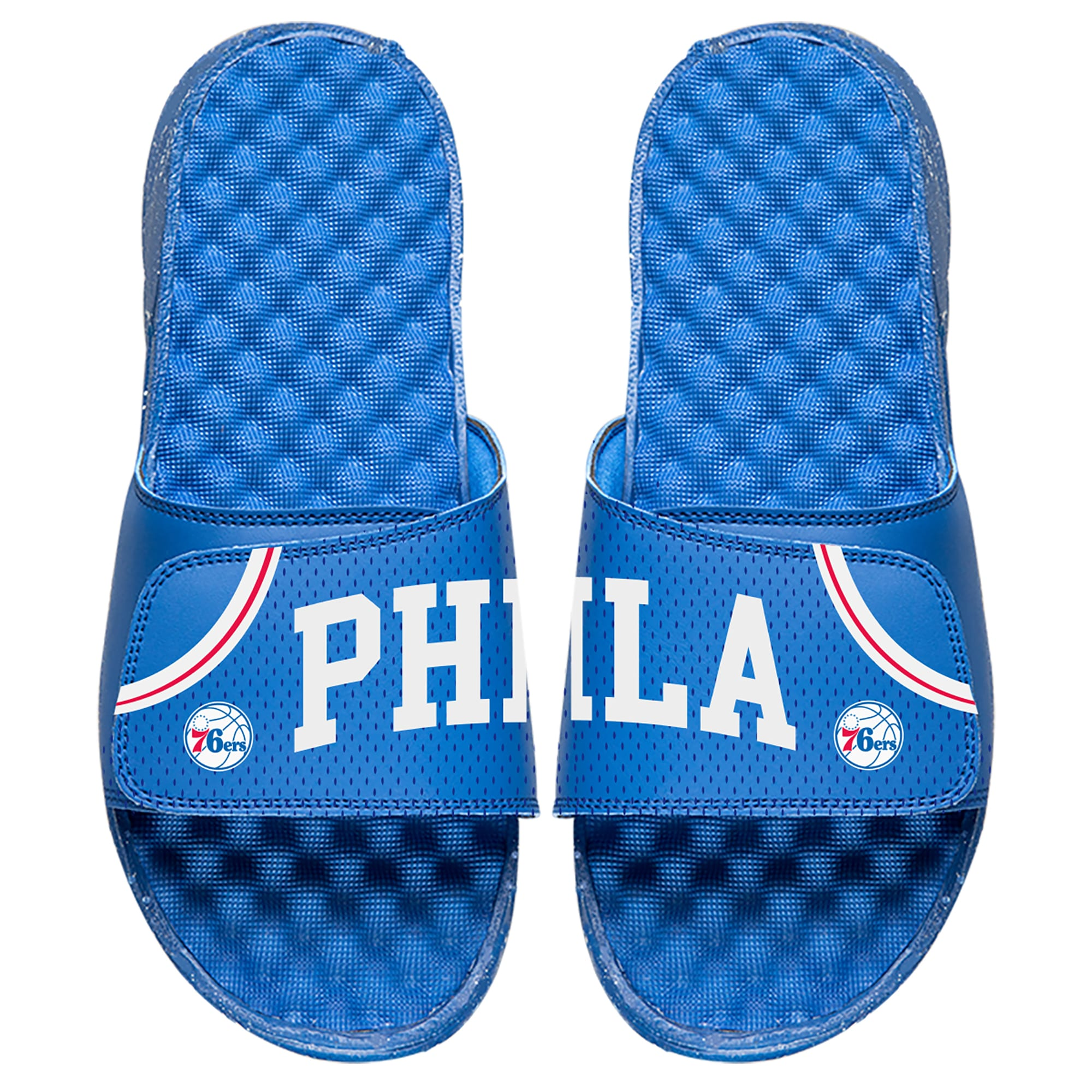 Philadelphia 76ers ISlide Away Jersey Split Slide Sandals - Royal