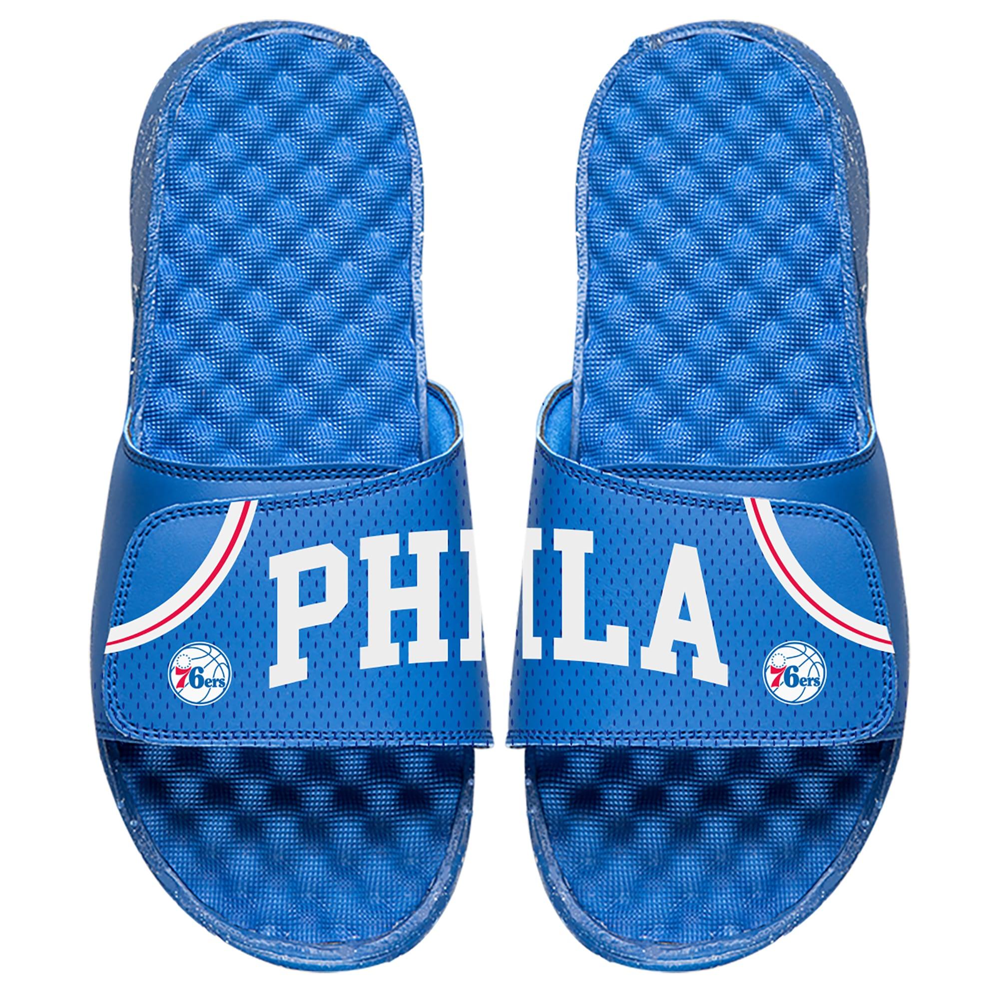 Philadelphia 76ers ISlide Youth Away Jersey Slide Sandals - Royal