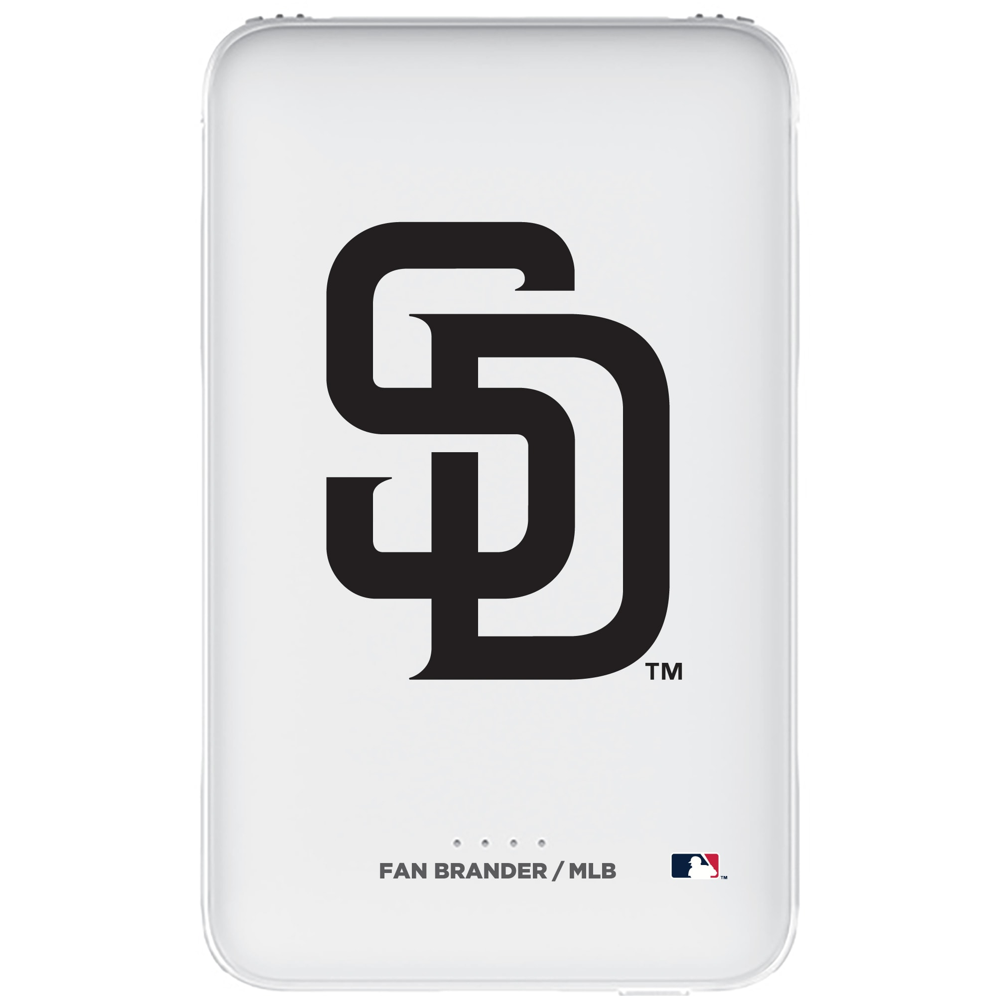 San Diego Padres 5000mAh Portable Power Bank - White