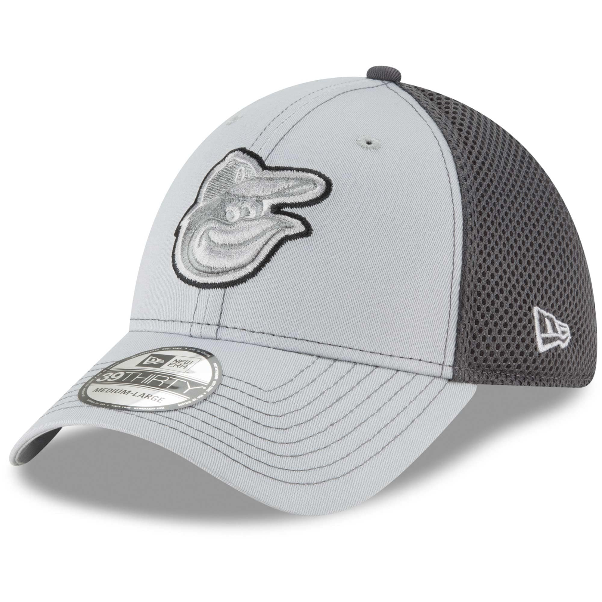 Baltimore Orioles New Era Grayed Out Neo 39THIRTY Flex Hat - Gray