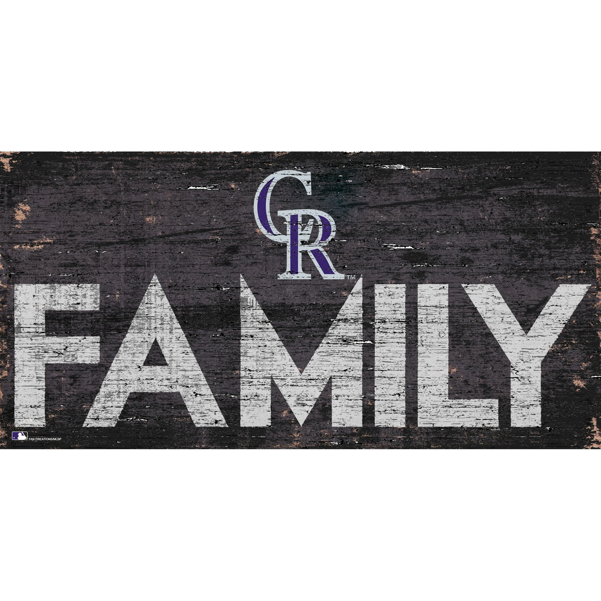 Colorado Rockies 12'' x 6'' Family Sign