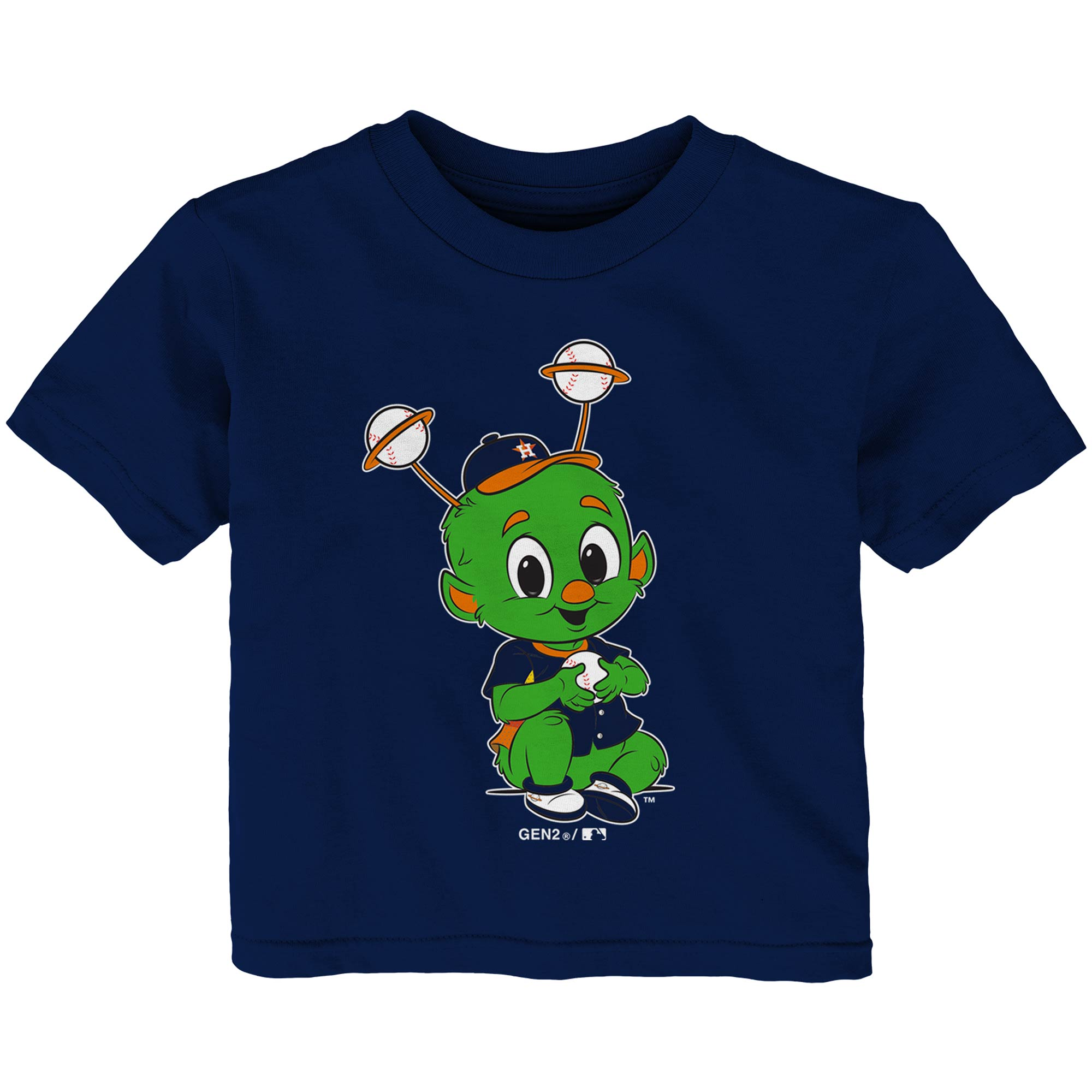 Houston Astros Infant Baby Mascot T-Shirt - Navy