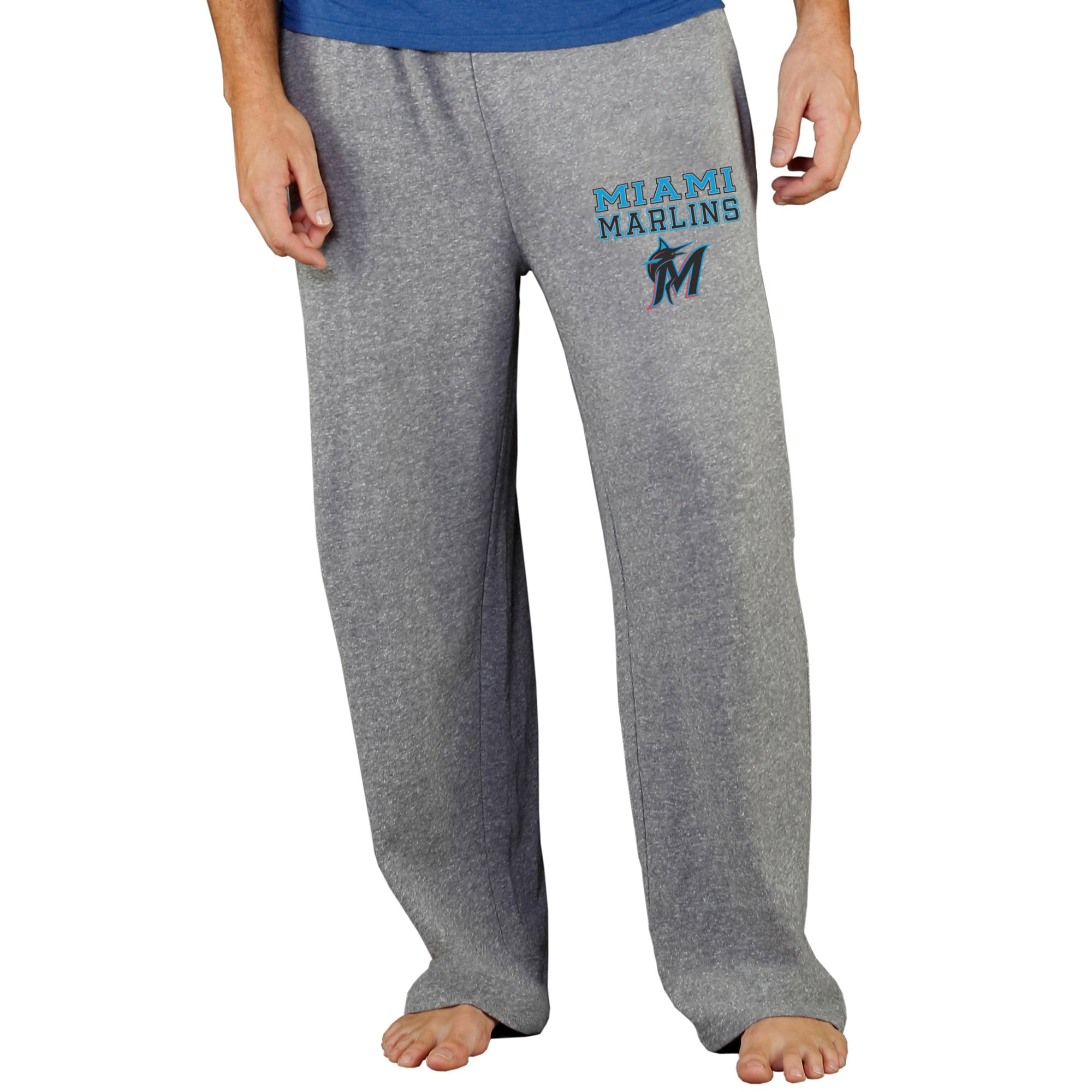 Miami Marlins Concepts Sport Team Mainstream Terry Pants - Gray